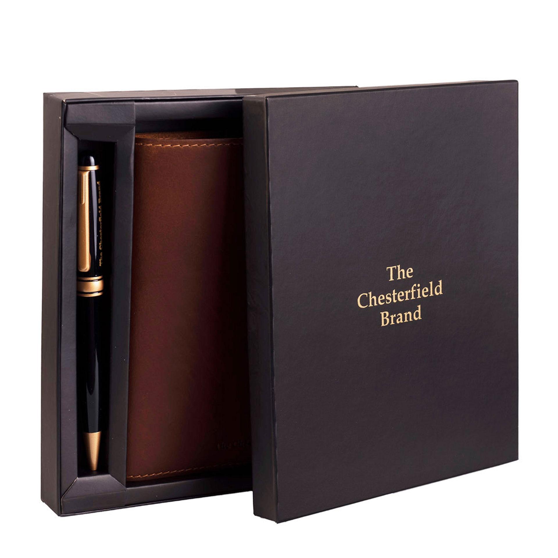 The Chesterfield Brand  Leder Notizbuch mit Kugelschreiber