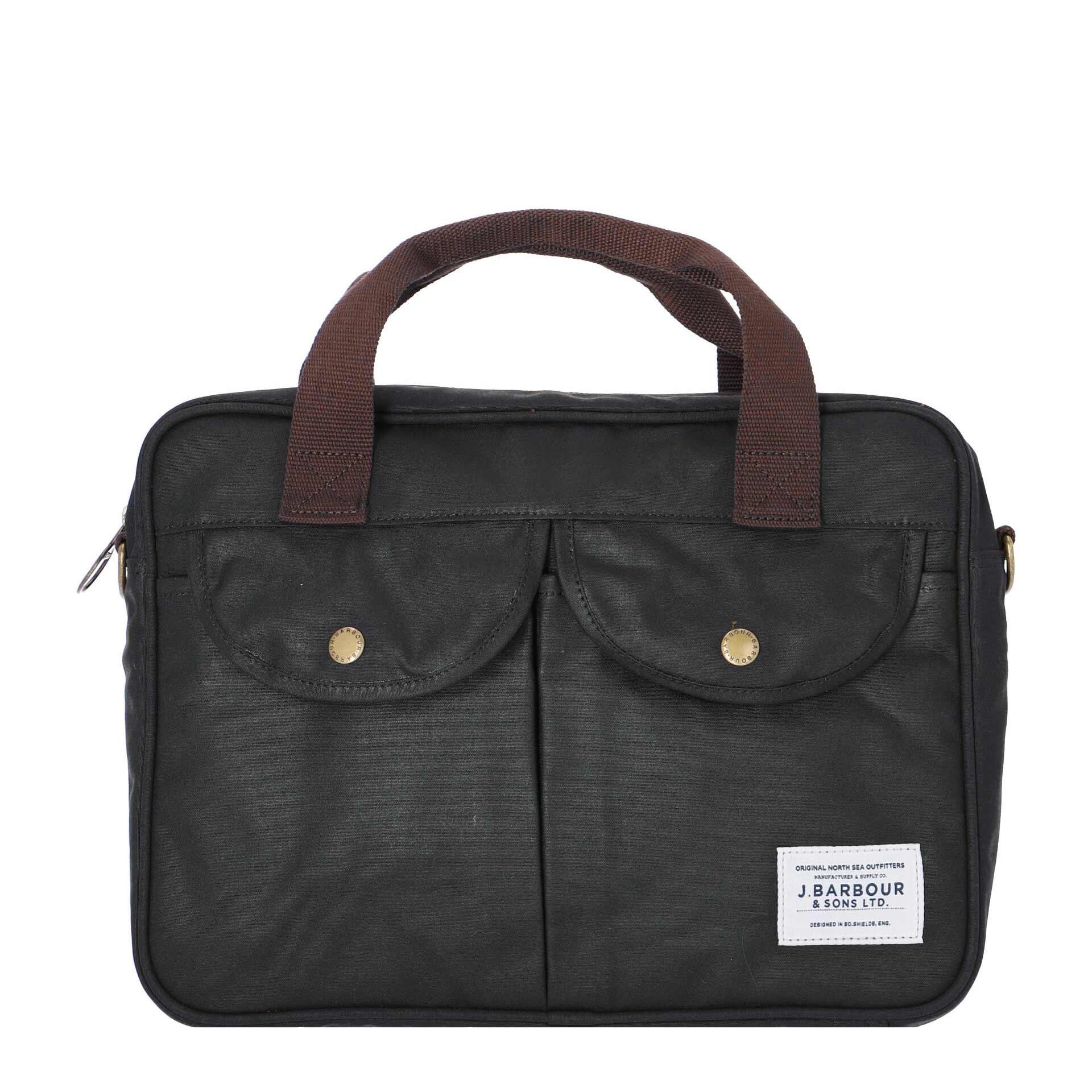 Barbour Wax Longthorpe Laptop Tasche