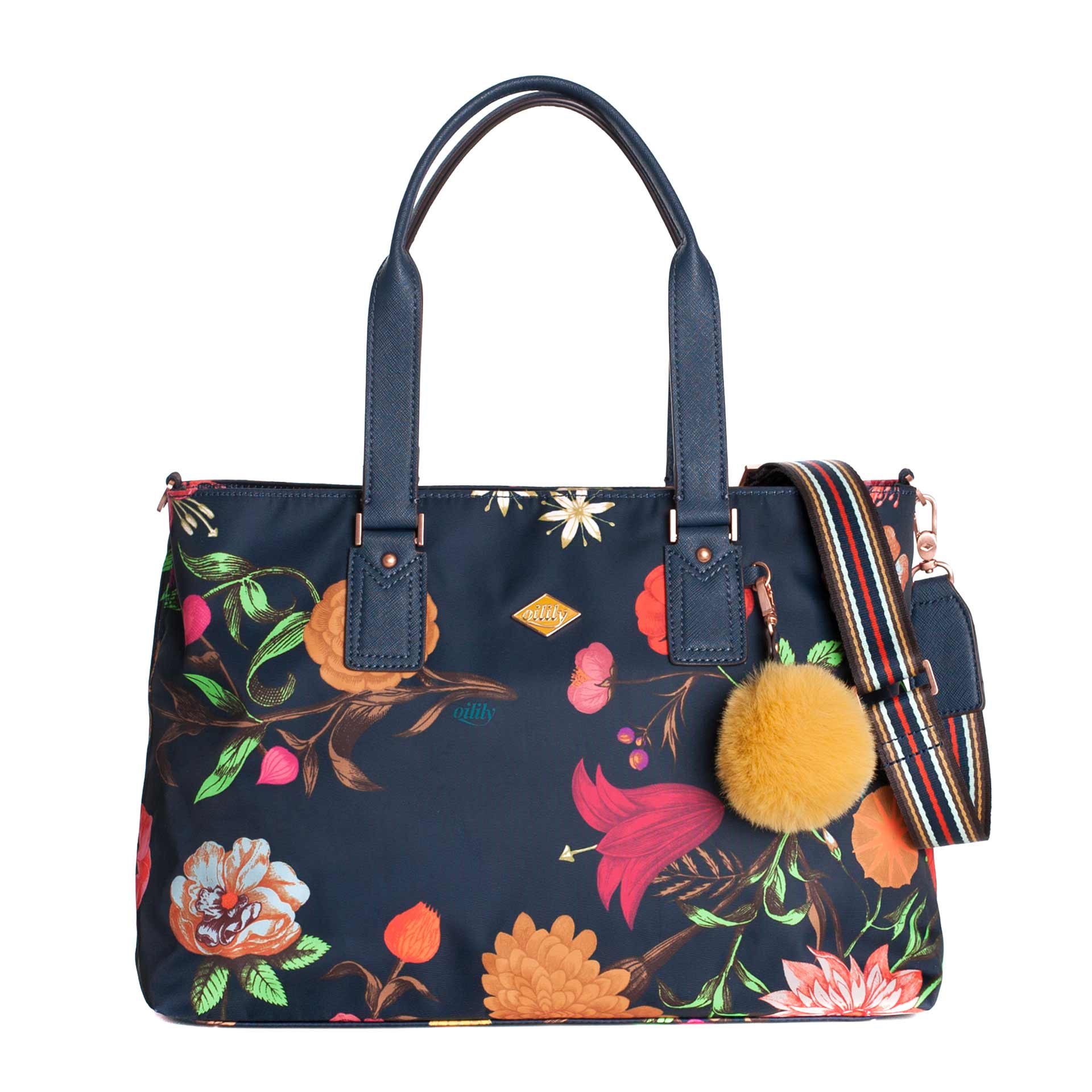 Winter Bouquet Carry All M navy night