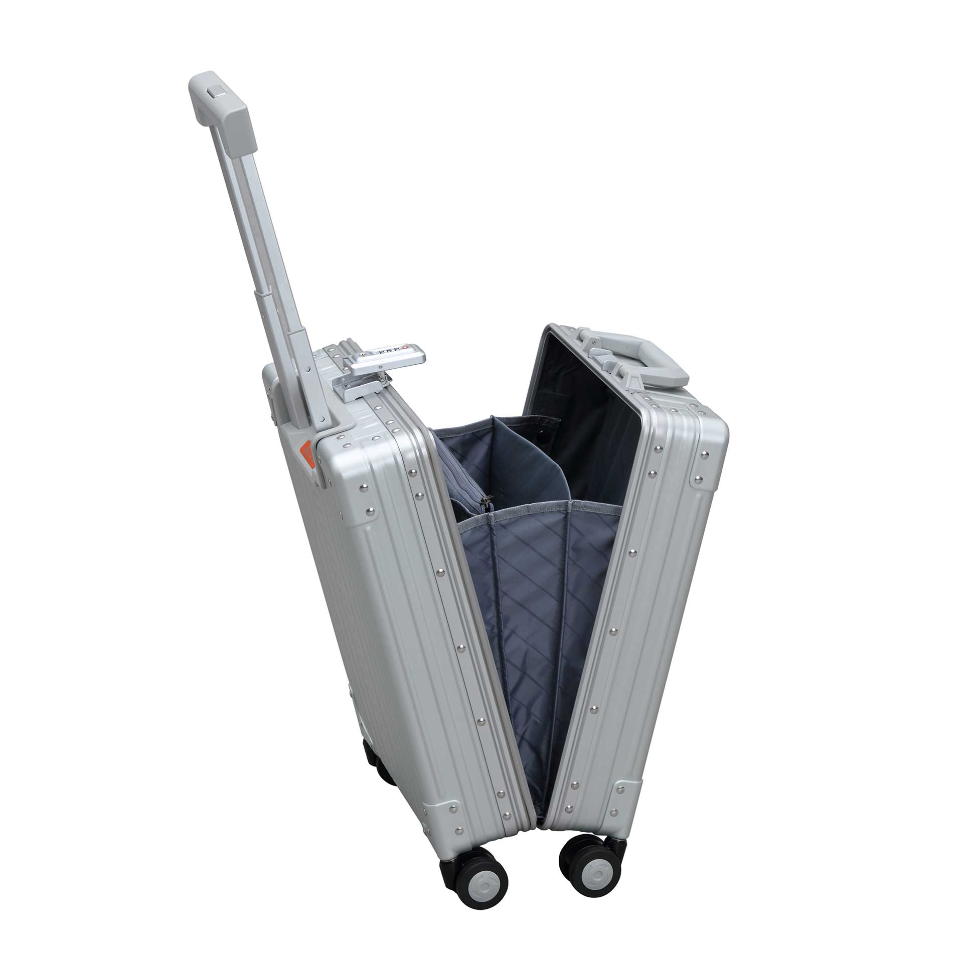 Aleon Vertical Business Carry-On Laptop Koffer platinum