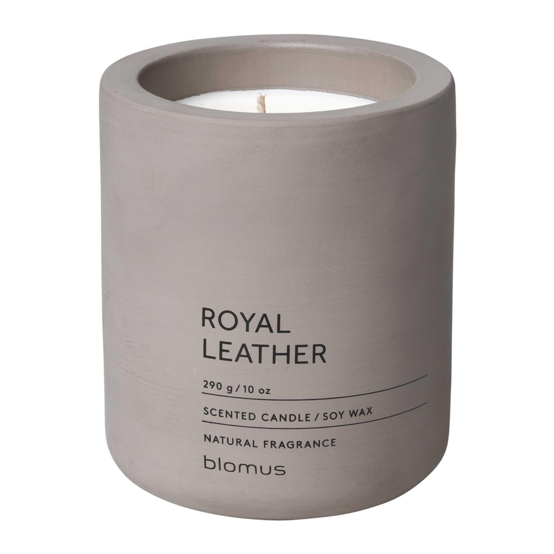 blomus FRAGA Duftkerze L Royal Leather – Satellite