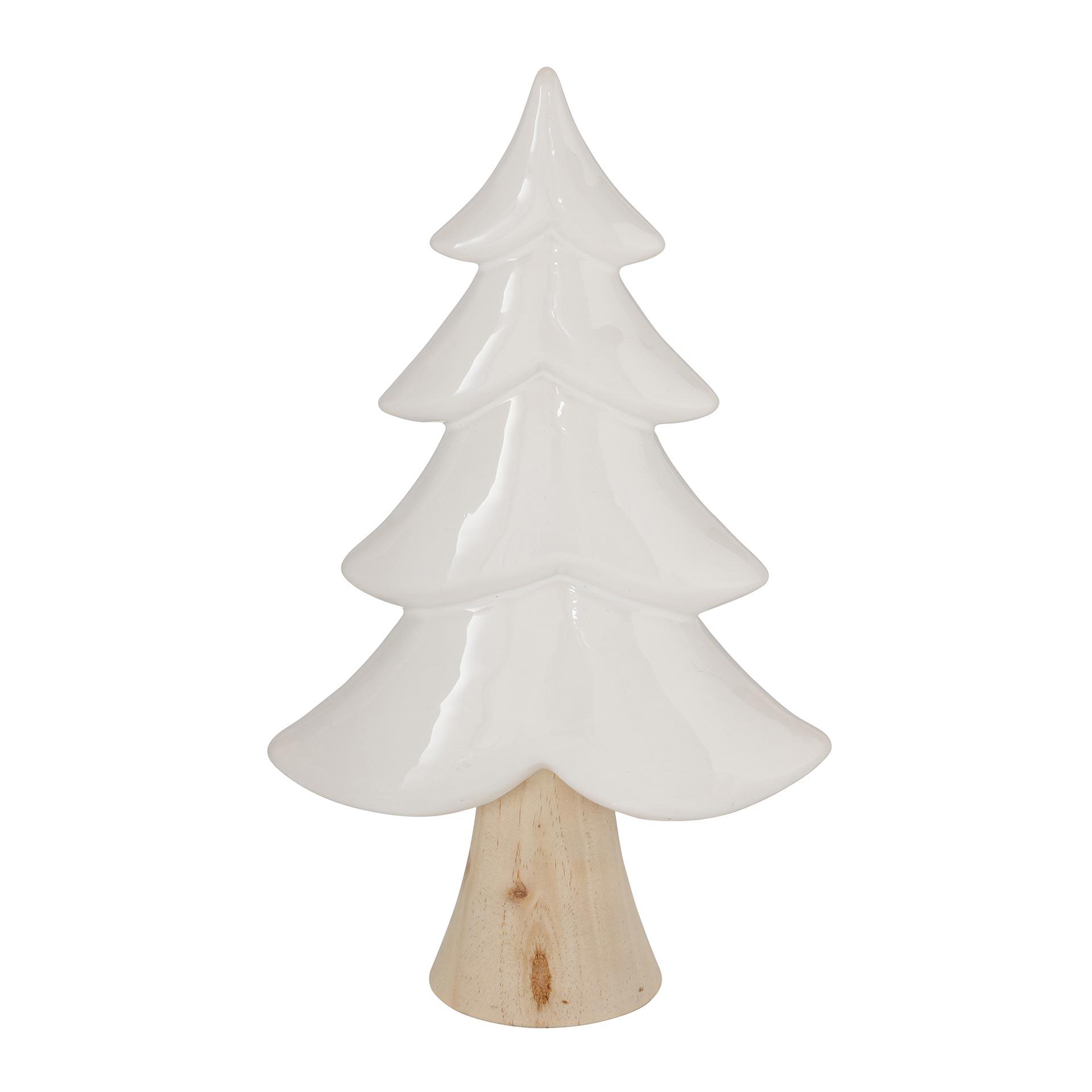 Boltze Hemmink Dekoaufsteller Baum Waldkiefer 30 cm materialmix farbmix