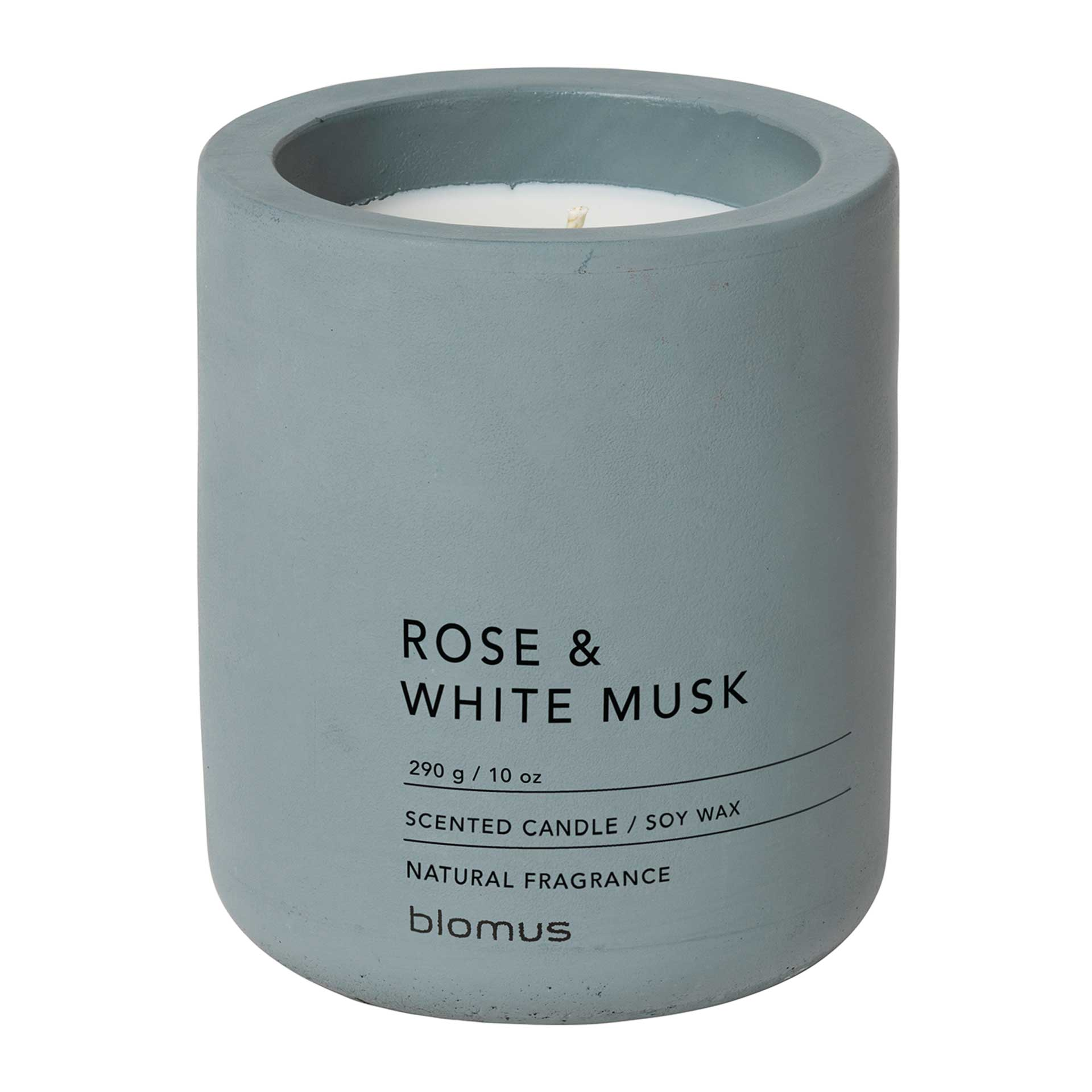 blomus FRAGA Duftkerze L Rose & White Musk – Flintstone