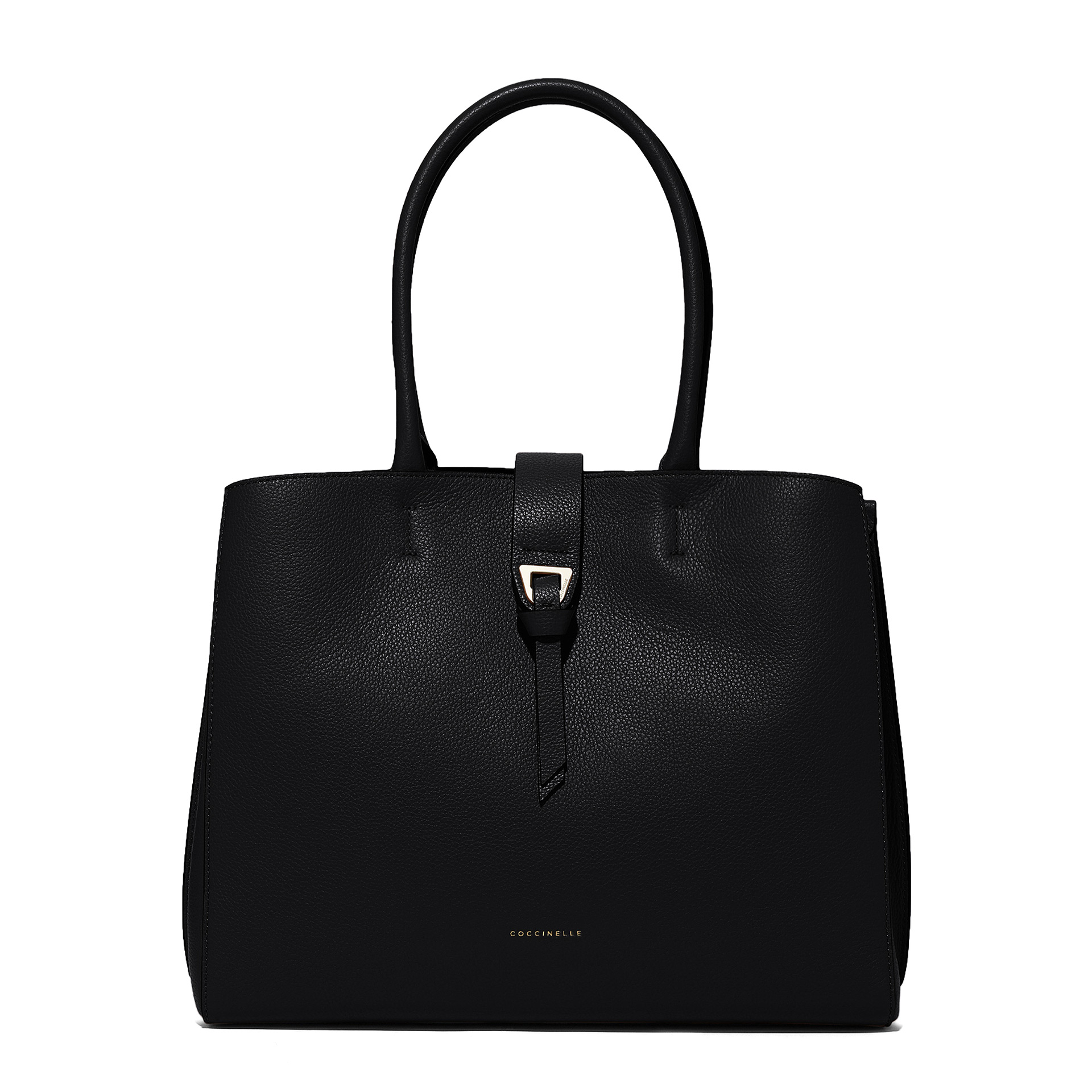 Alba Maxi Shopper aus Bottalata-Leder noir