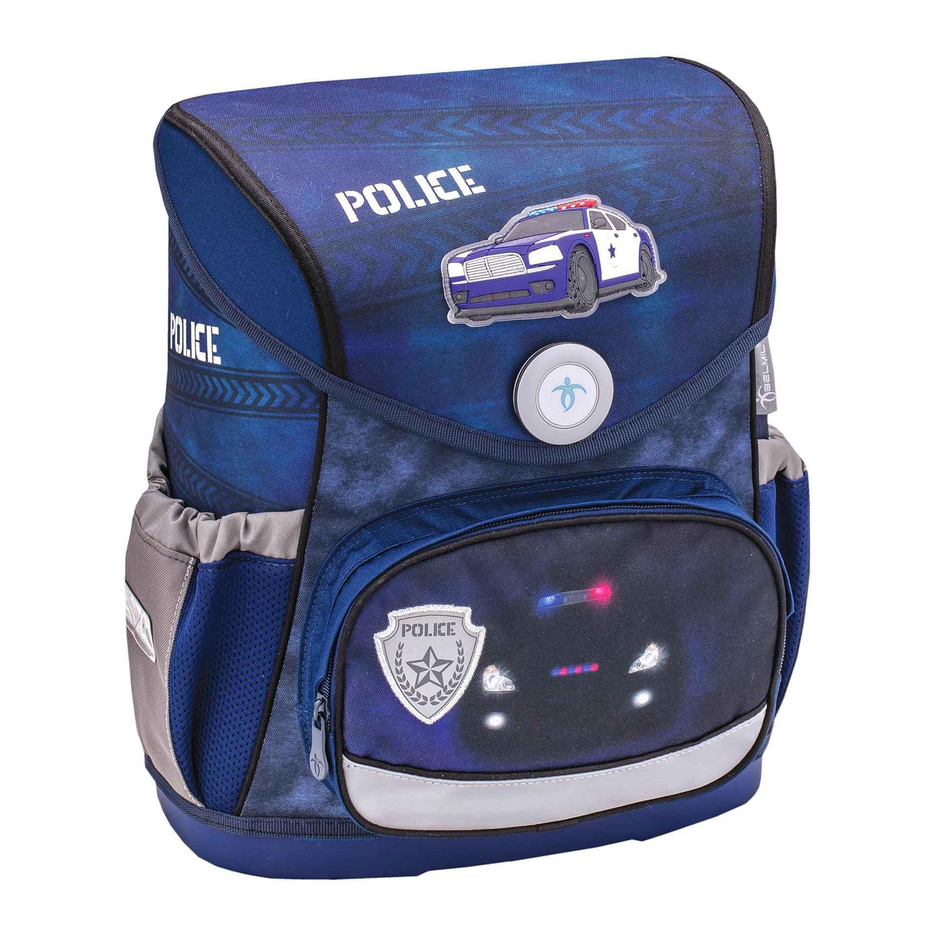 Belmil Compact Schulranzen Set 4-teilig Police