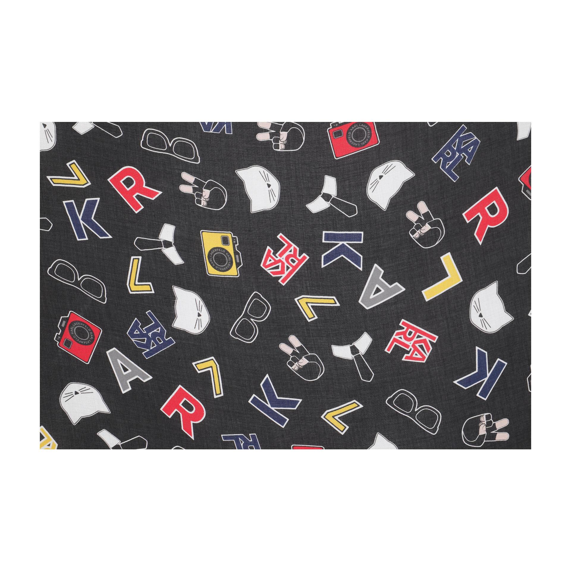 Karl Lagerfeld K/Karl Logo Tuch mit Ansteckern black
