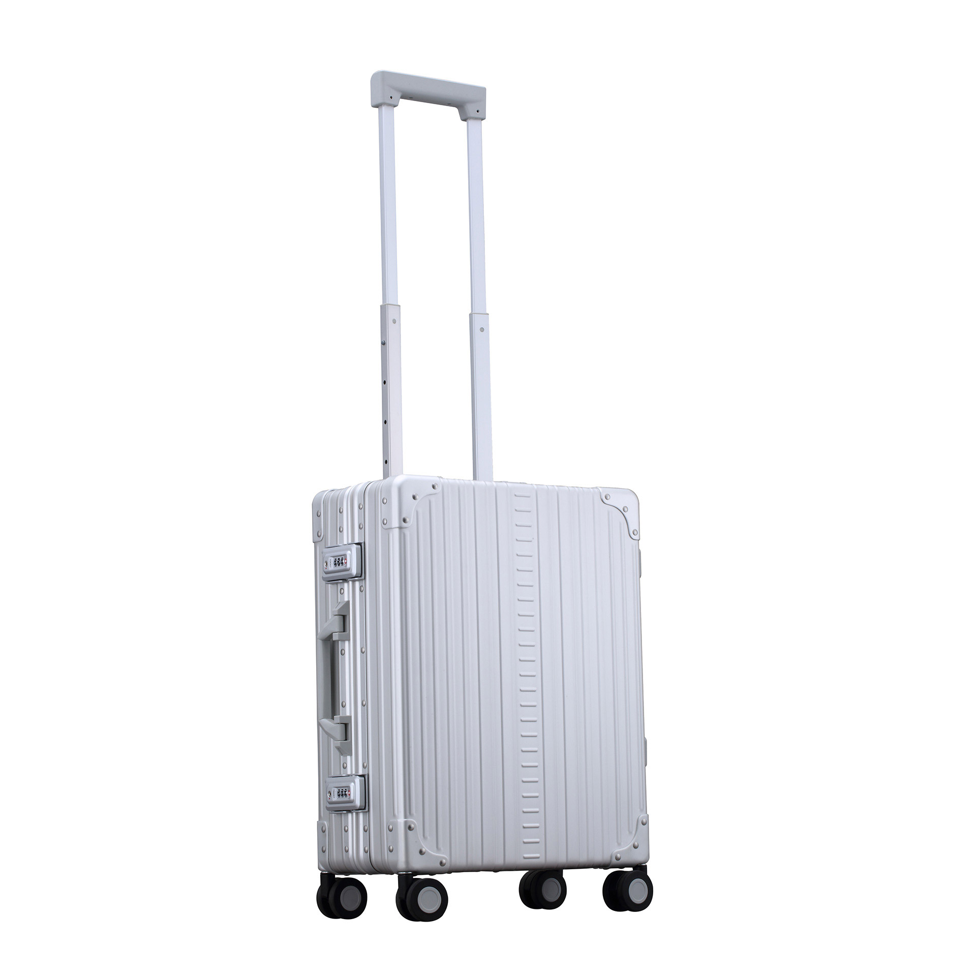 Aleon International Carry-On 4-Rad Trolley platinum