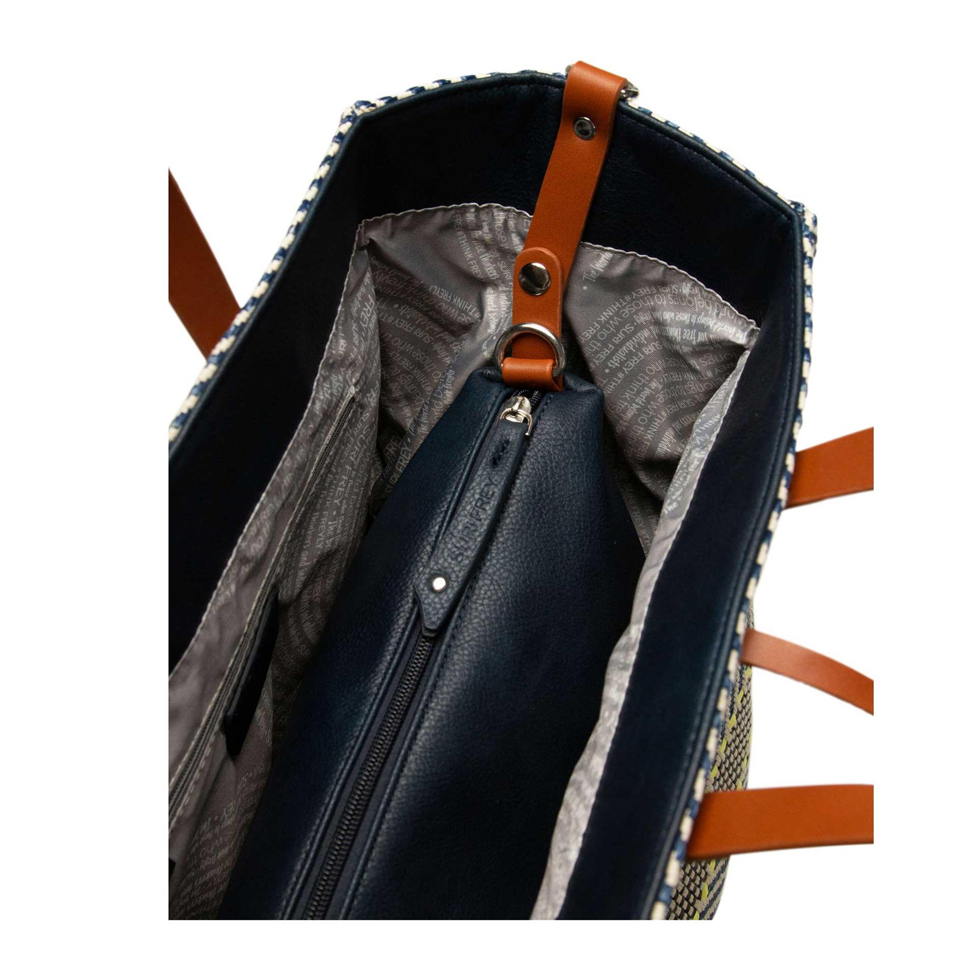Suri Black Label Gracy Handtasche gestreift 2 in 1 blue