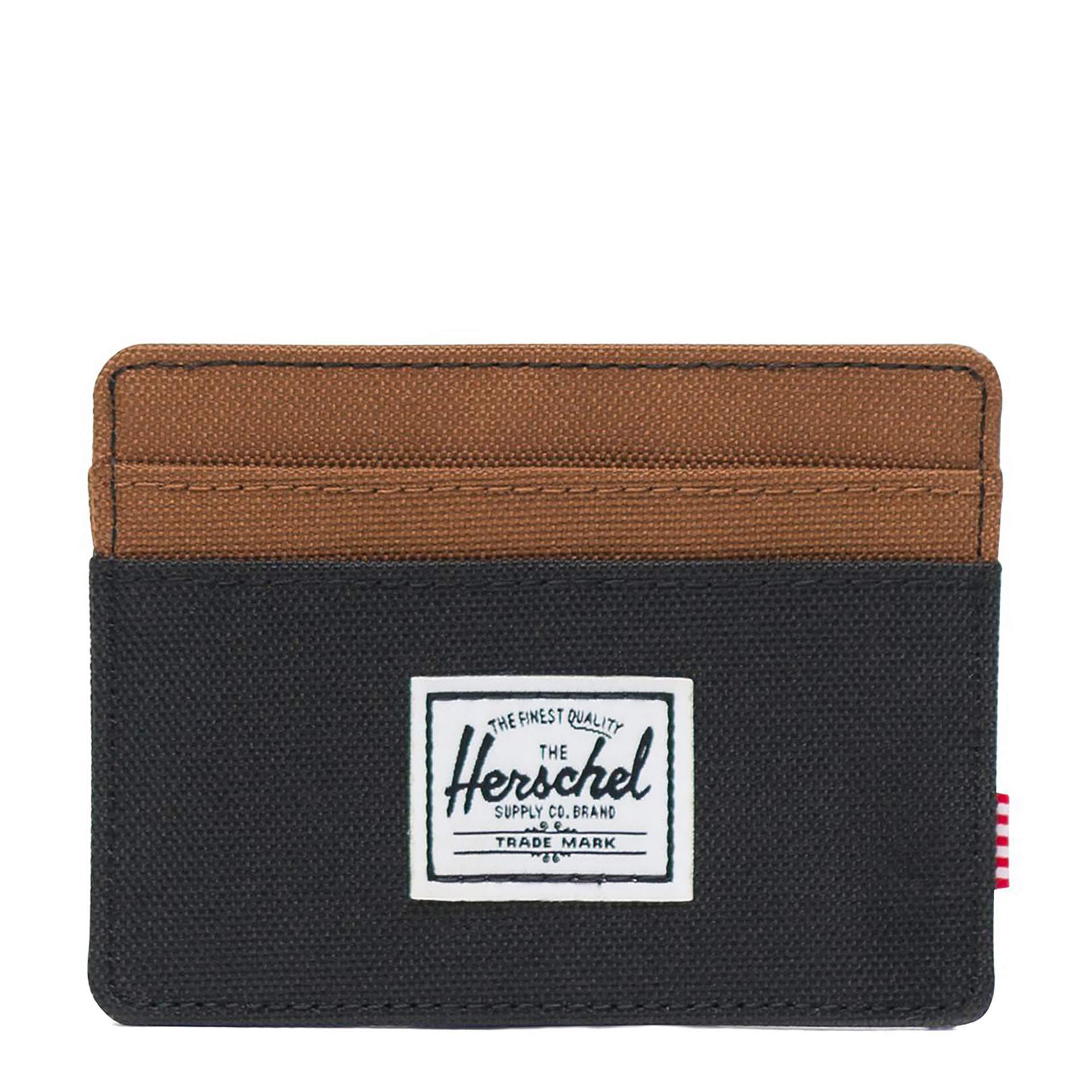 Herschel Charlie Geldbörse black/saddle brown