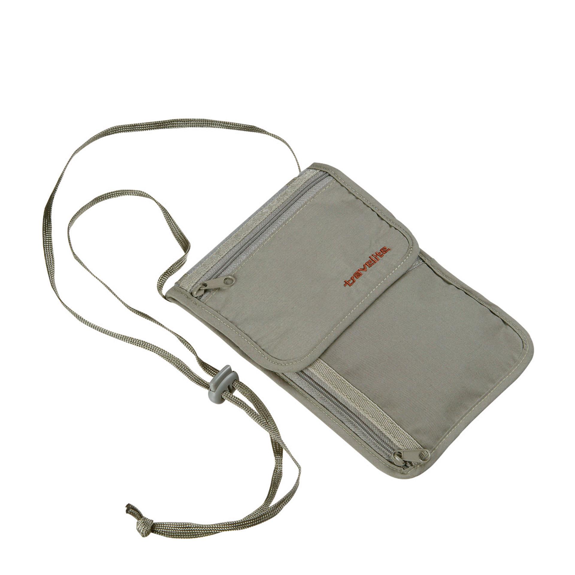 travelite. Accessoires Sicherheits-Brustbeutel mit RFID schwarz