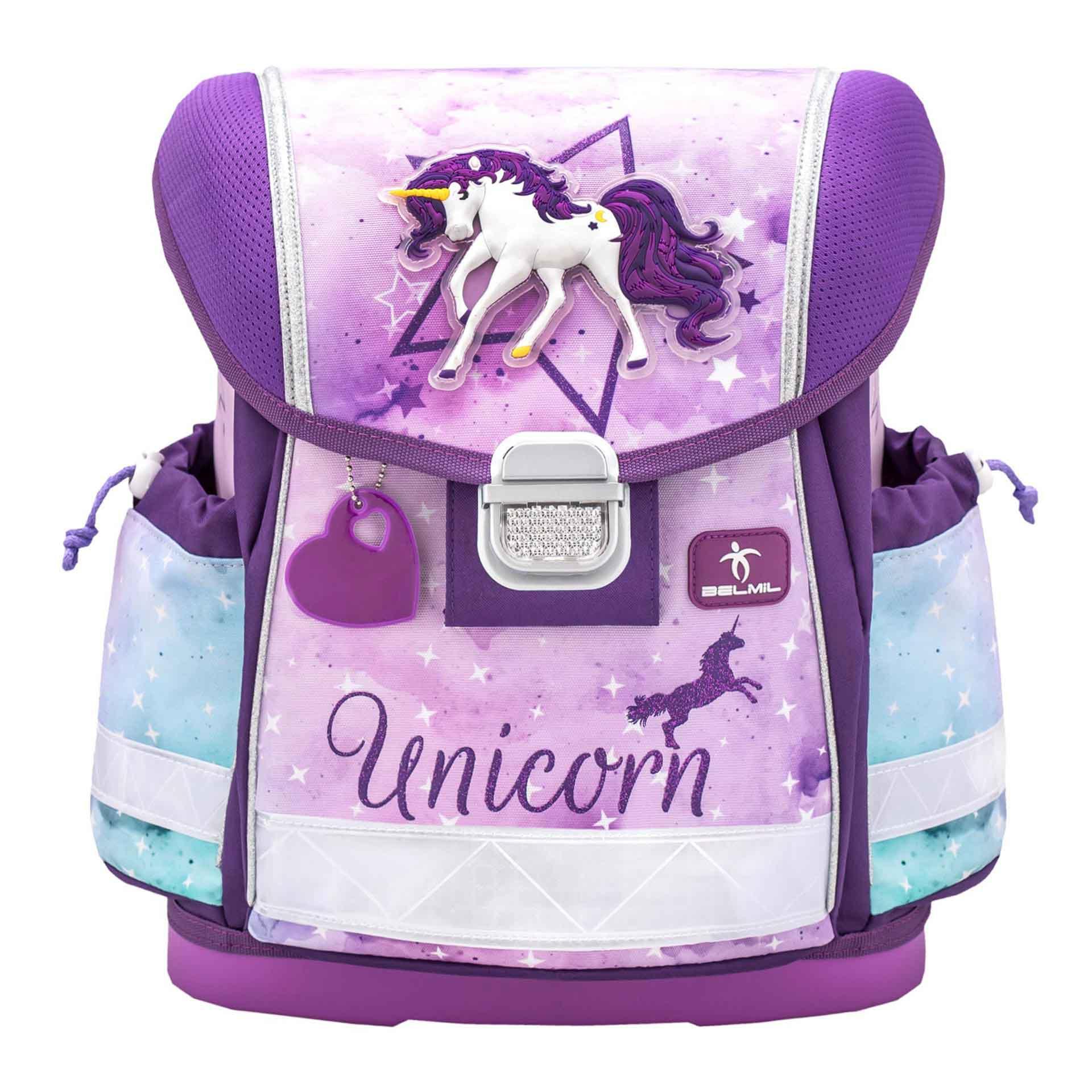 Belmil Classy Schulranzen Set 4-teilig Unicorn