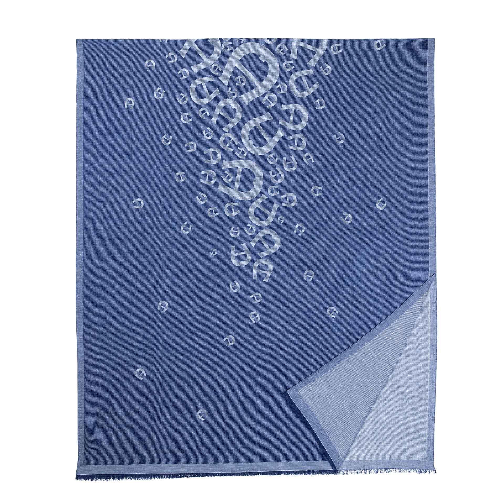 Aigner Logo Schal M deep blue