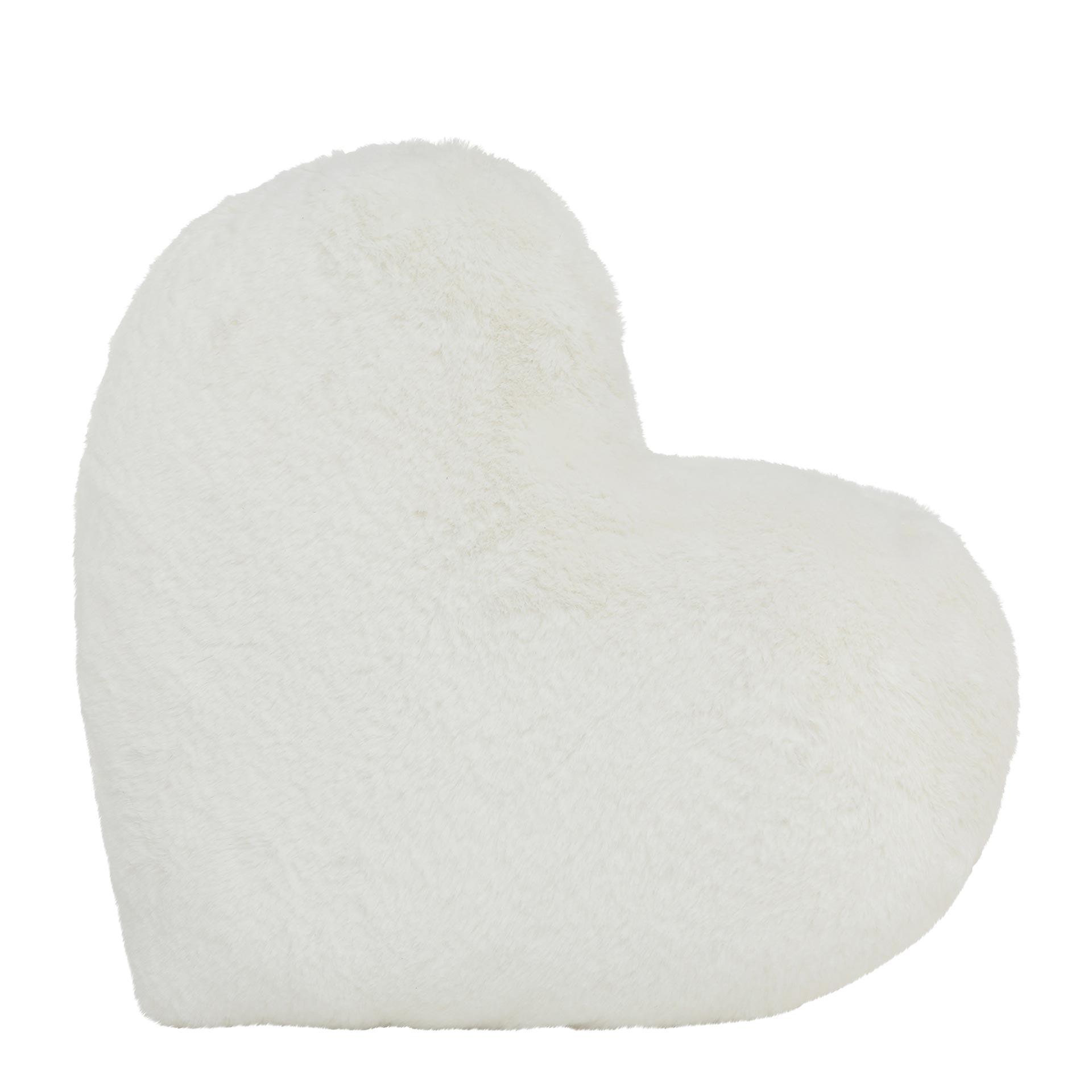 Boltze Kuschel Kissen aus Polyester weiß