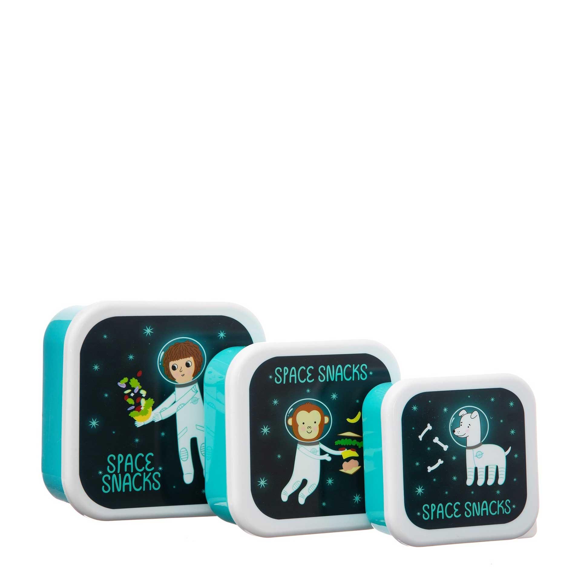 LEOKA SASS & BELL Snack Boxen 3er-Set space explorer
