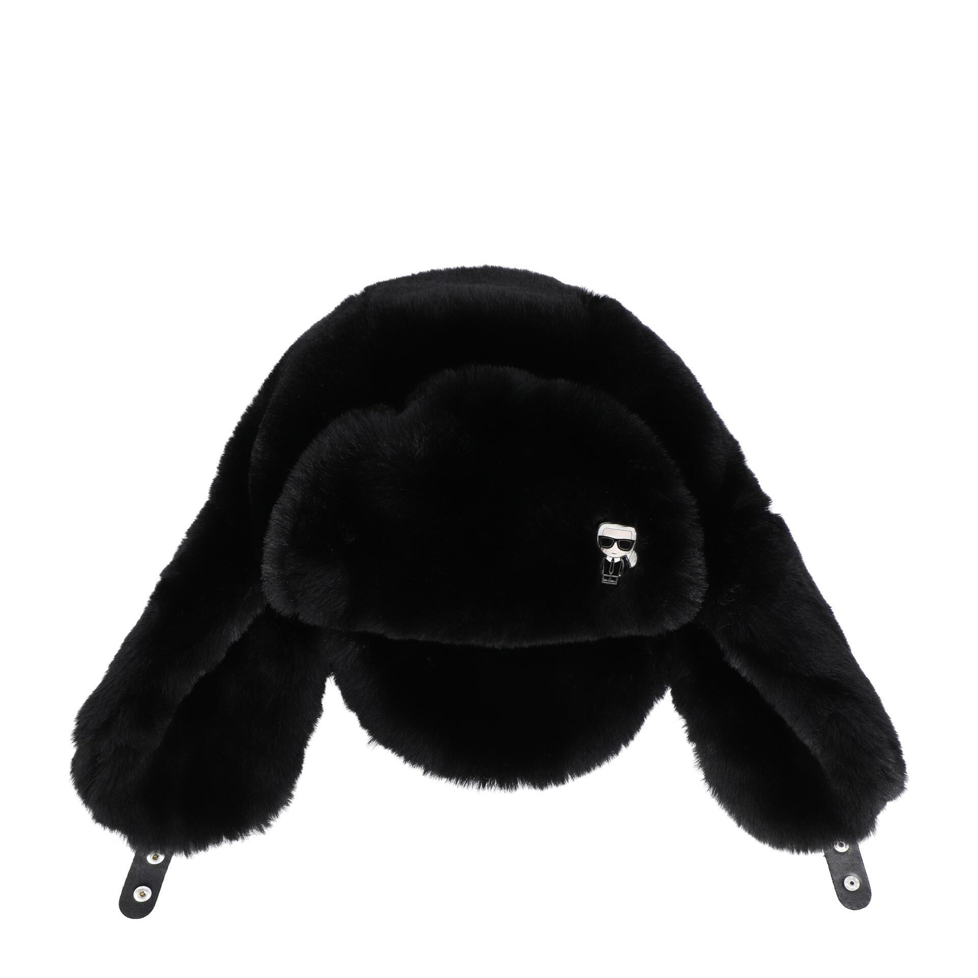 K/Ikonik Mütze aus Kunstpelz black