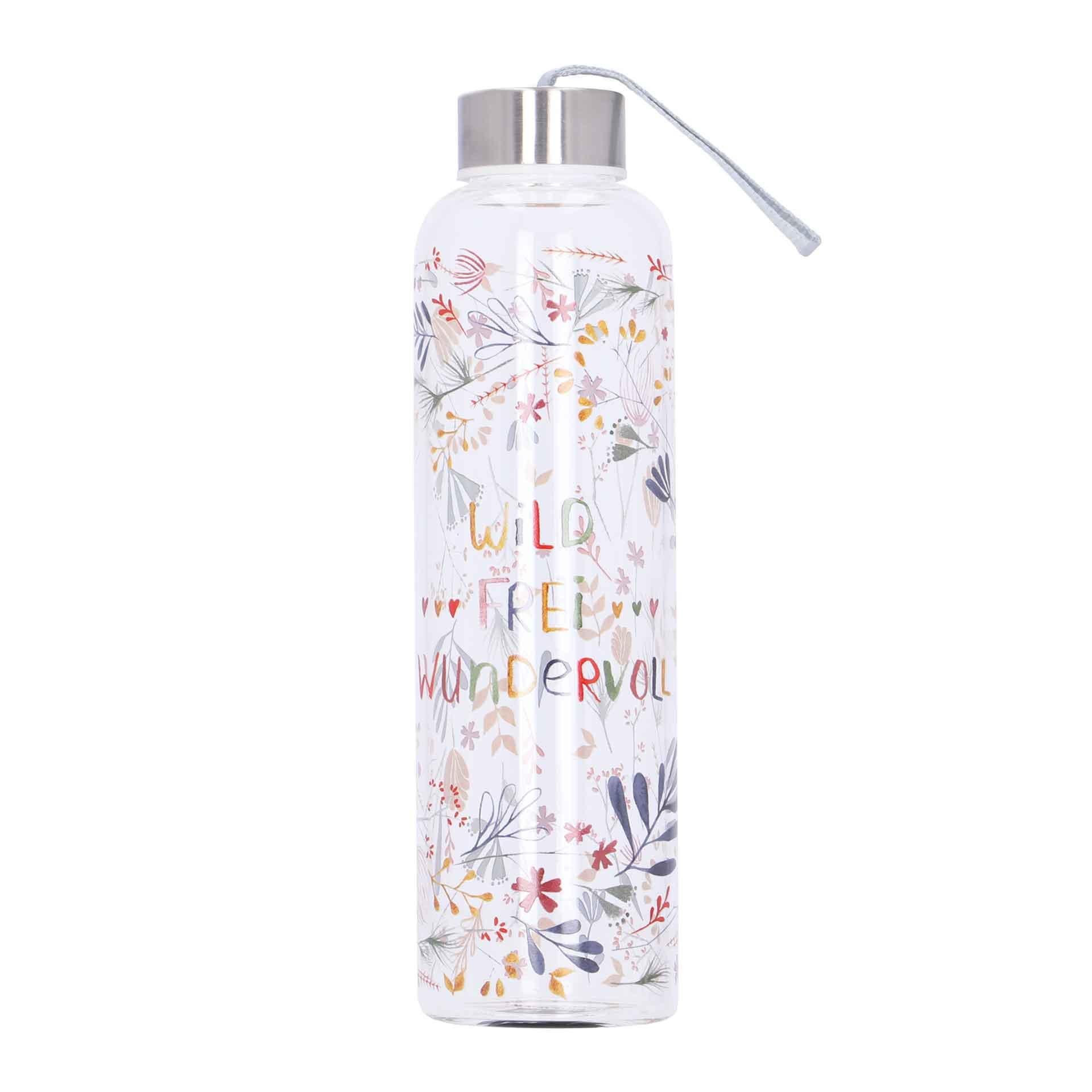 LEOKA Paperproducts Design Glas-Flasche wild frei wundervoll