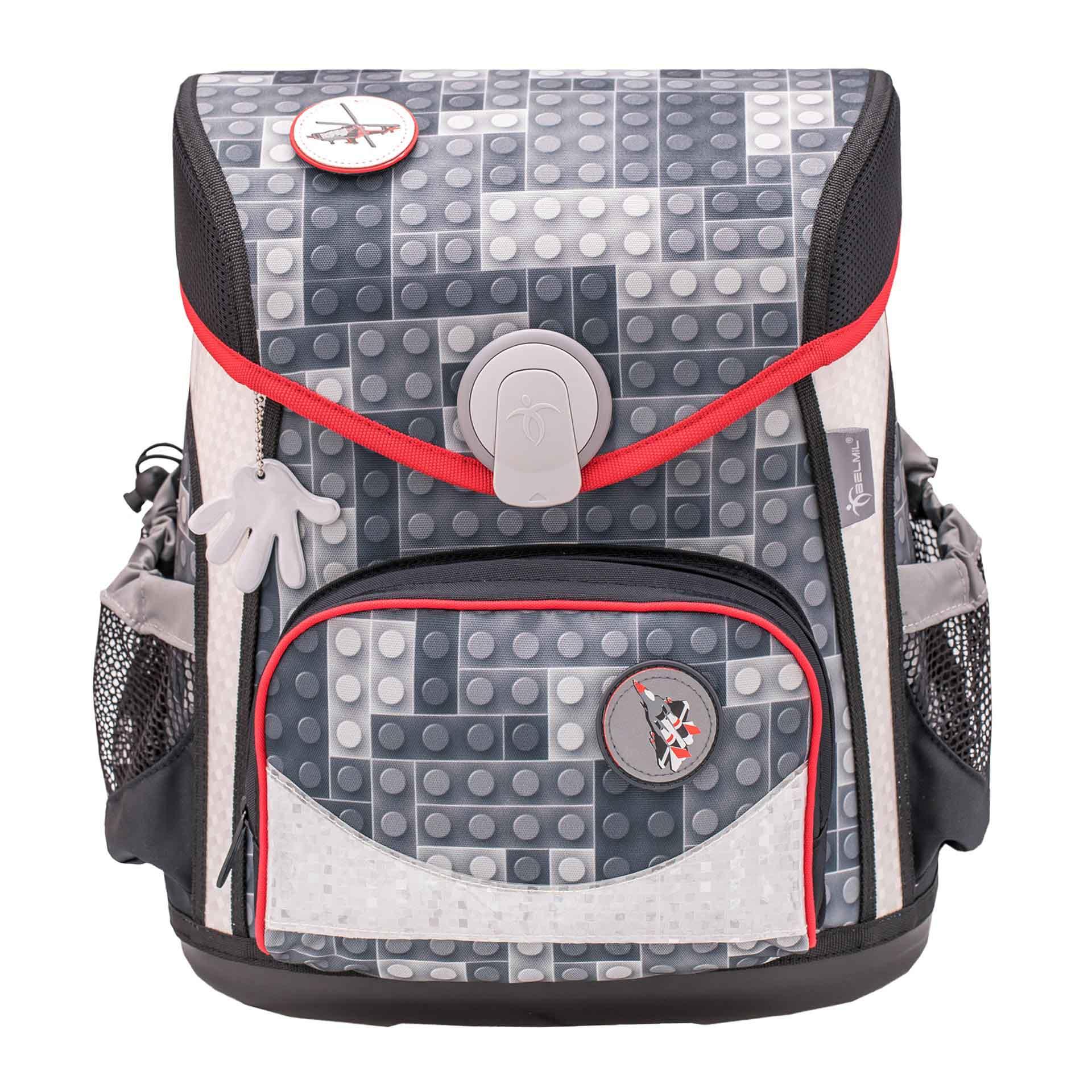 Belmil Cool Bag Schulranzen mit Patch-Set, 4-teilig