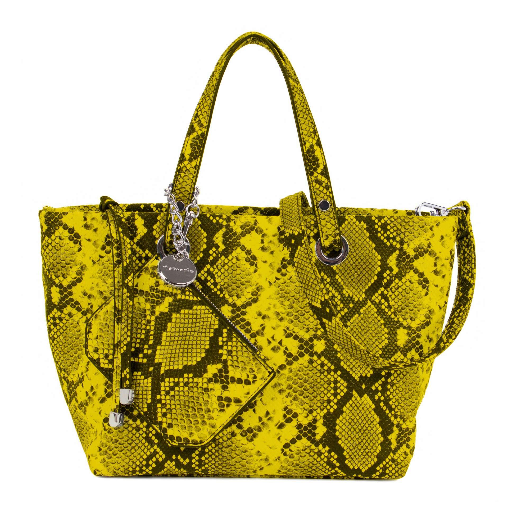 Tamaris Andrea Shopper Pythonmuster yellow