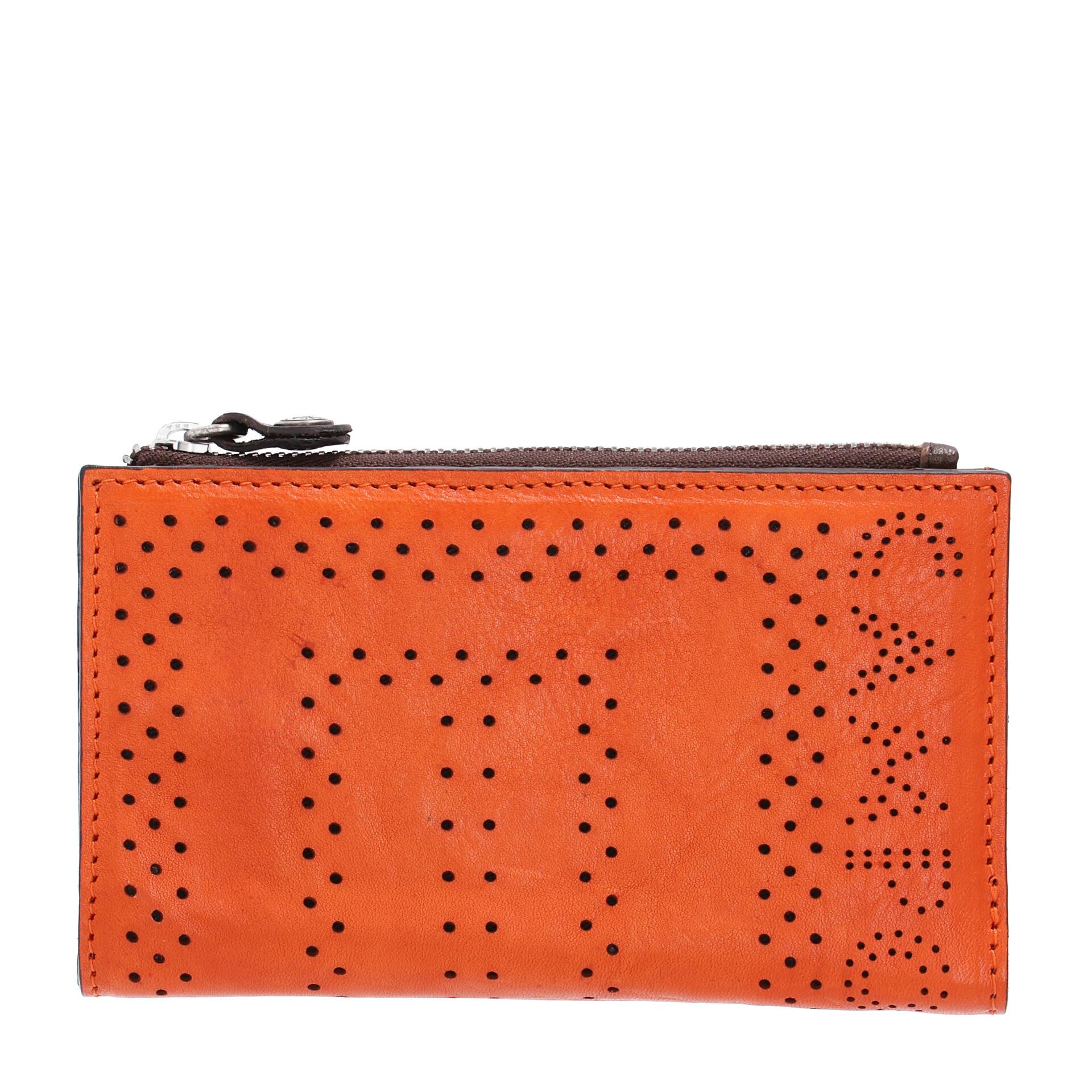 Ledergeldbörse orange