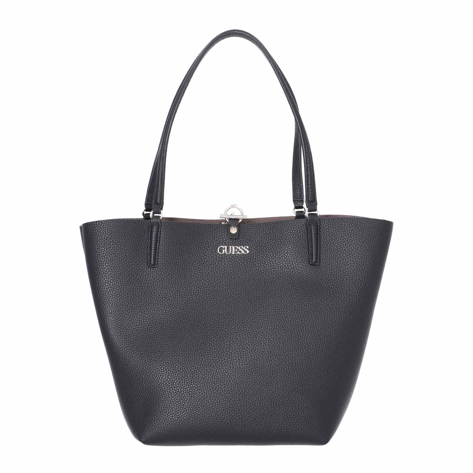 Guess Alby Wende Shopper mit Pochette black iron