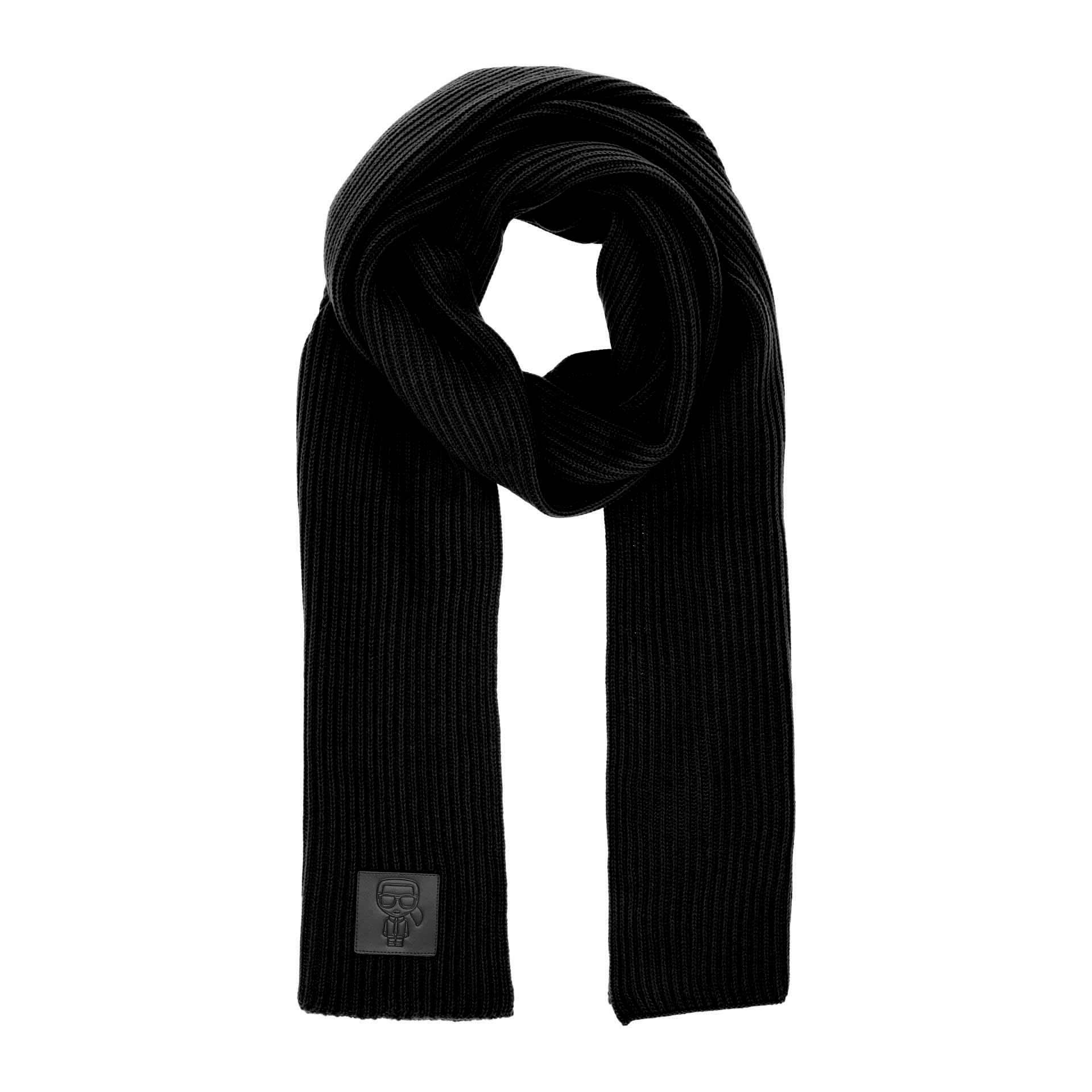 K/Ikonik Schal mit Patch black