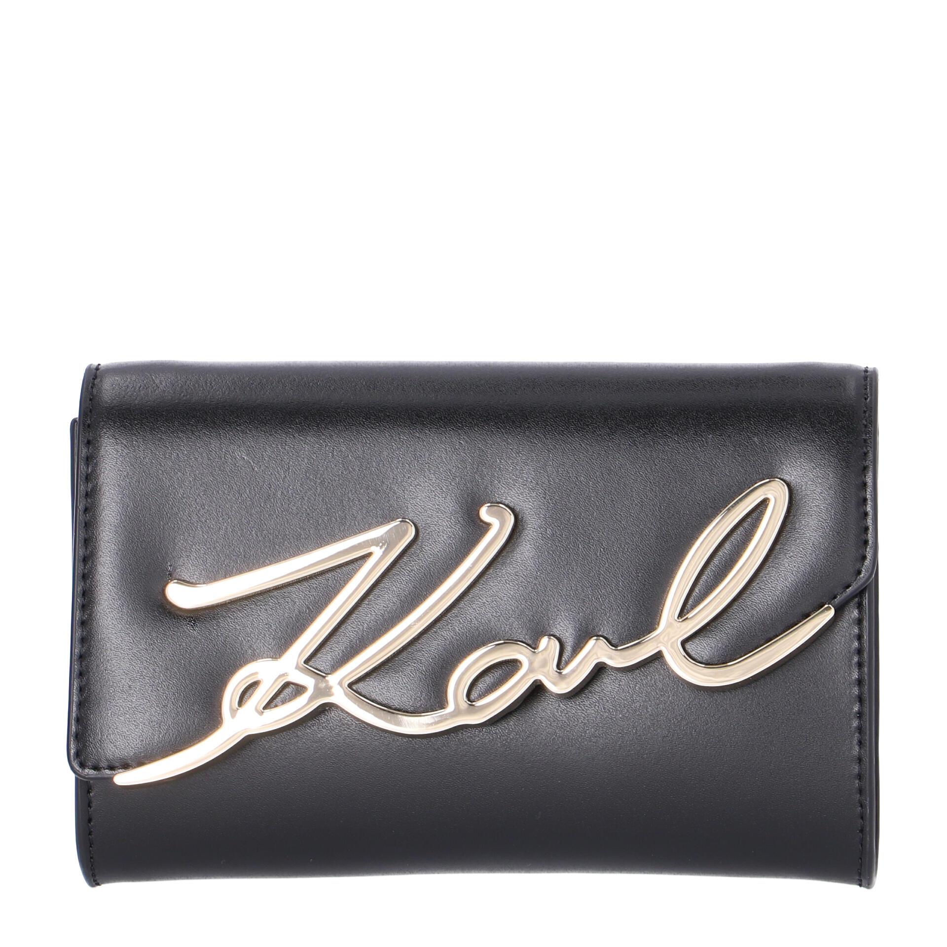 Karl Lagerfeld Signature Umhängetasche (Gürteltasche) black gold