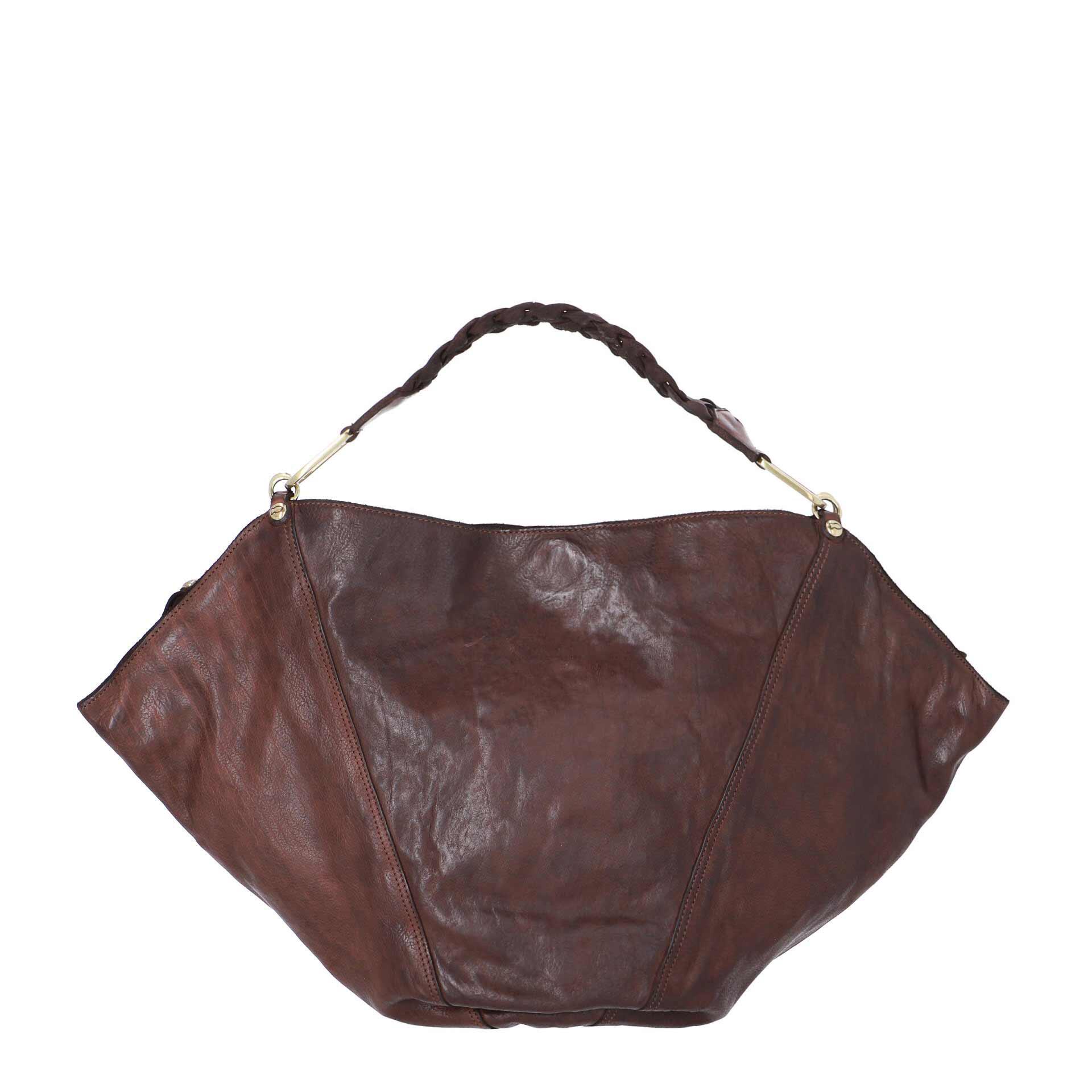 Campomaggi Anna Schultertasche L aus Leder brown