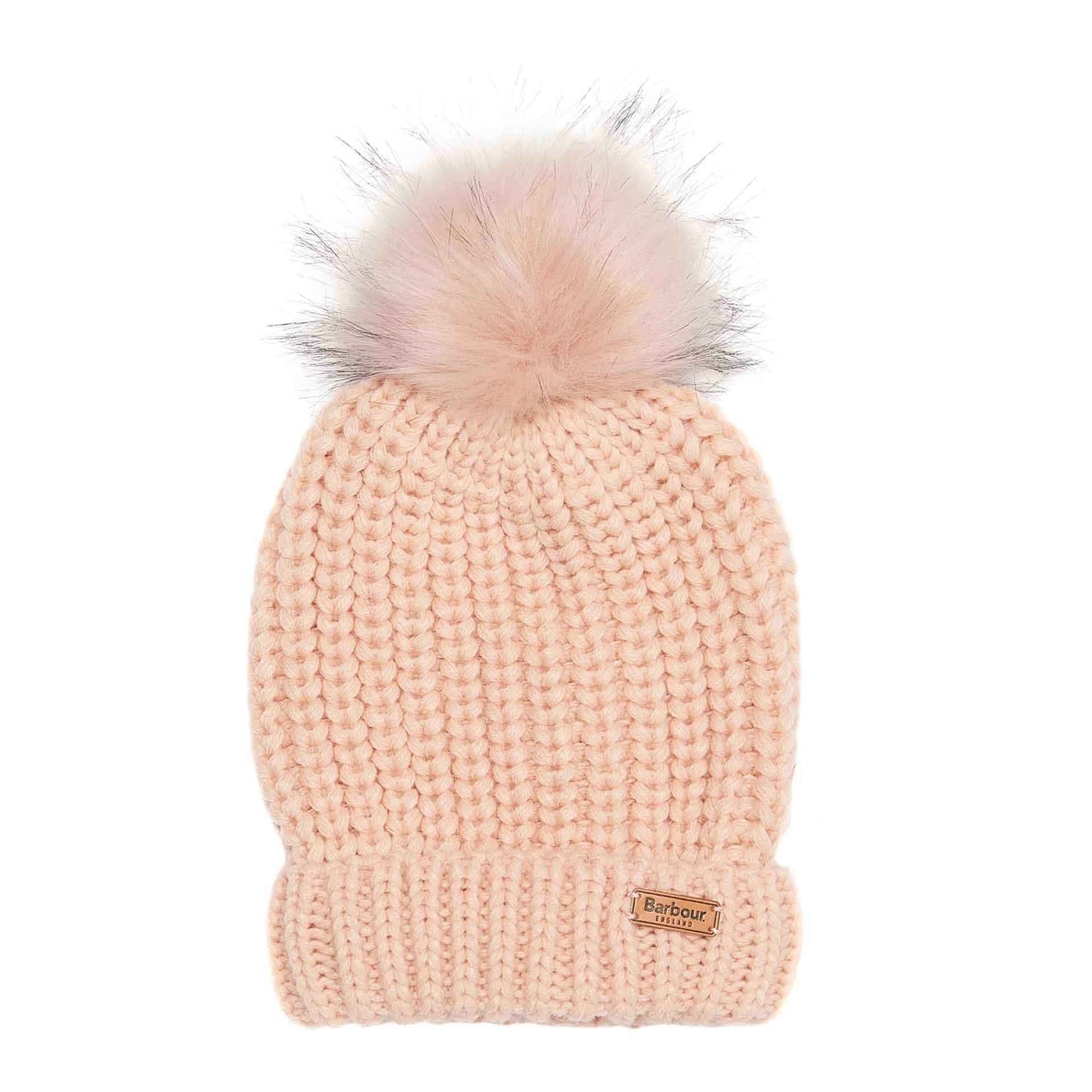 Barbour Saltburn Mütze mit Schal im Geschenkset pink/grau