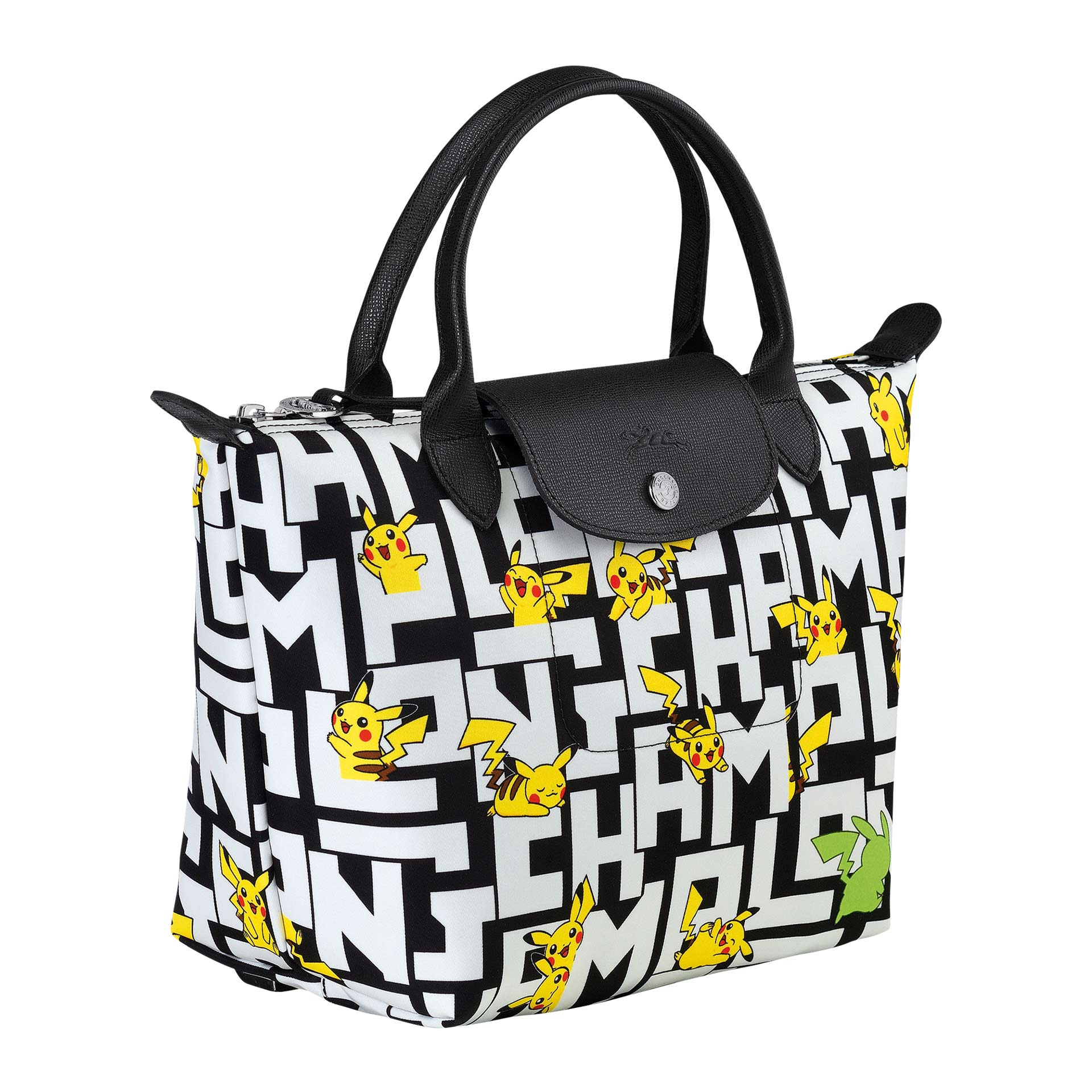 Longchamp Le Pliage Pokemon Handtasche S black/white