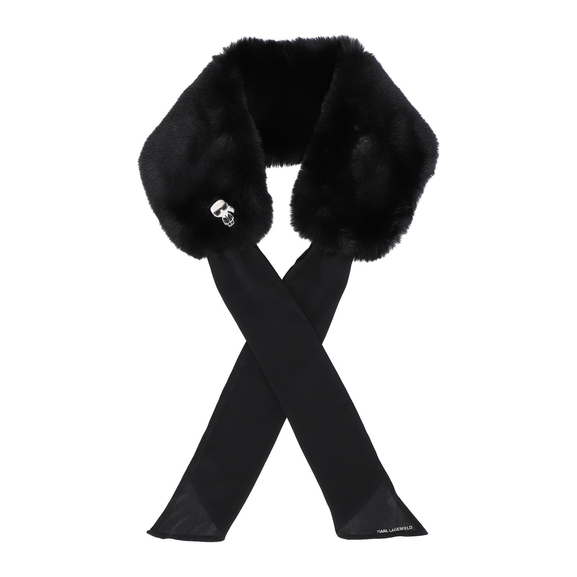 K/Ikonik Schal aus Kunstpelz black