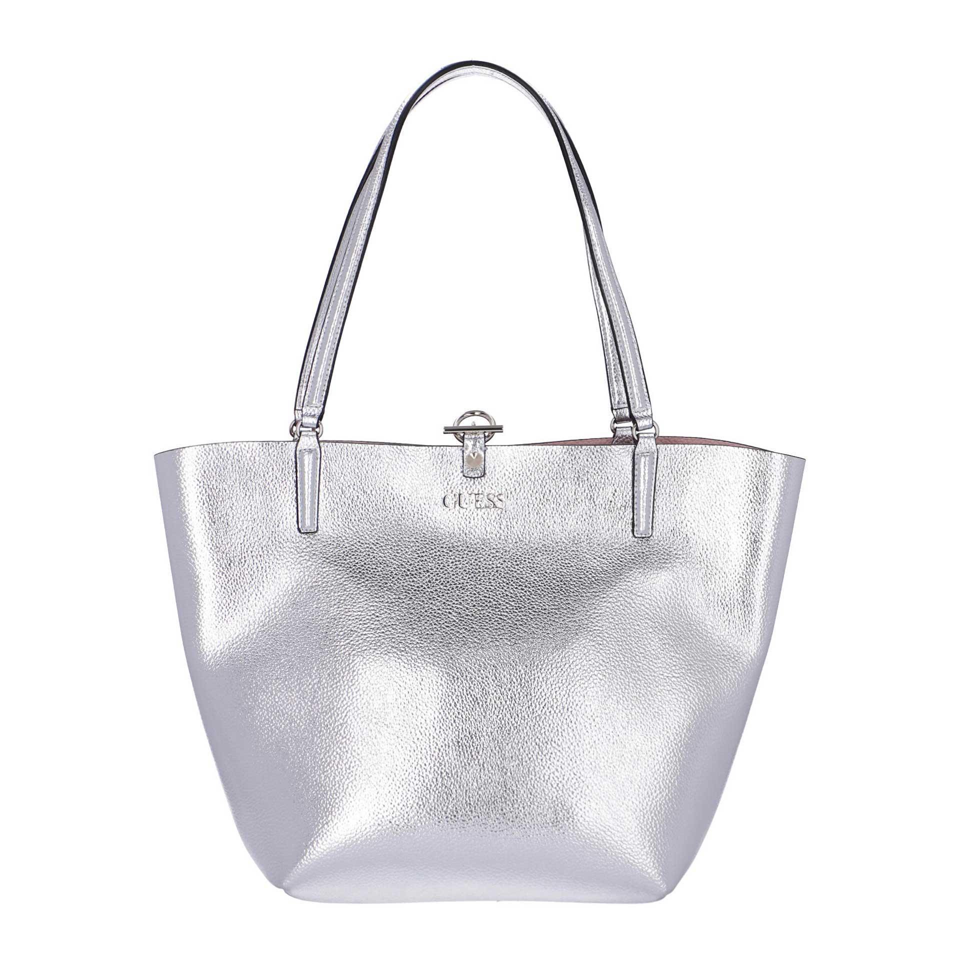 Guess Alby Wende-Shopper mit herausnehmbarer Clutch silver blush