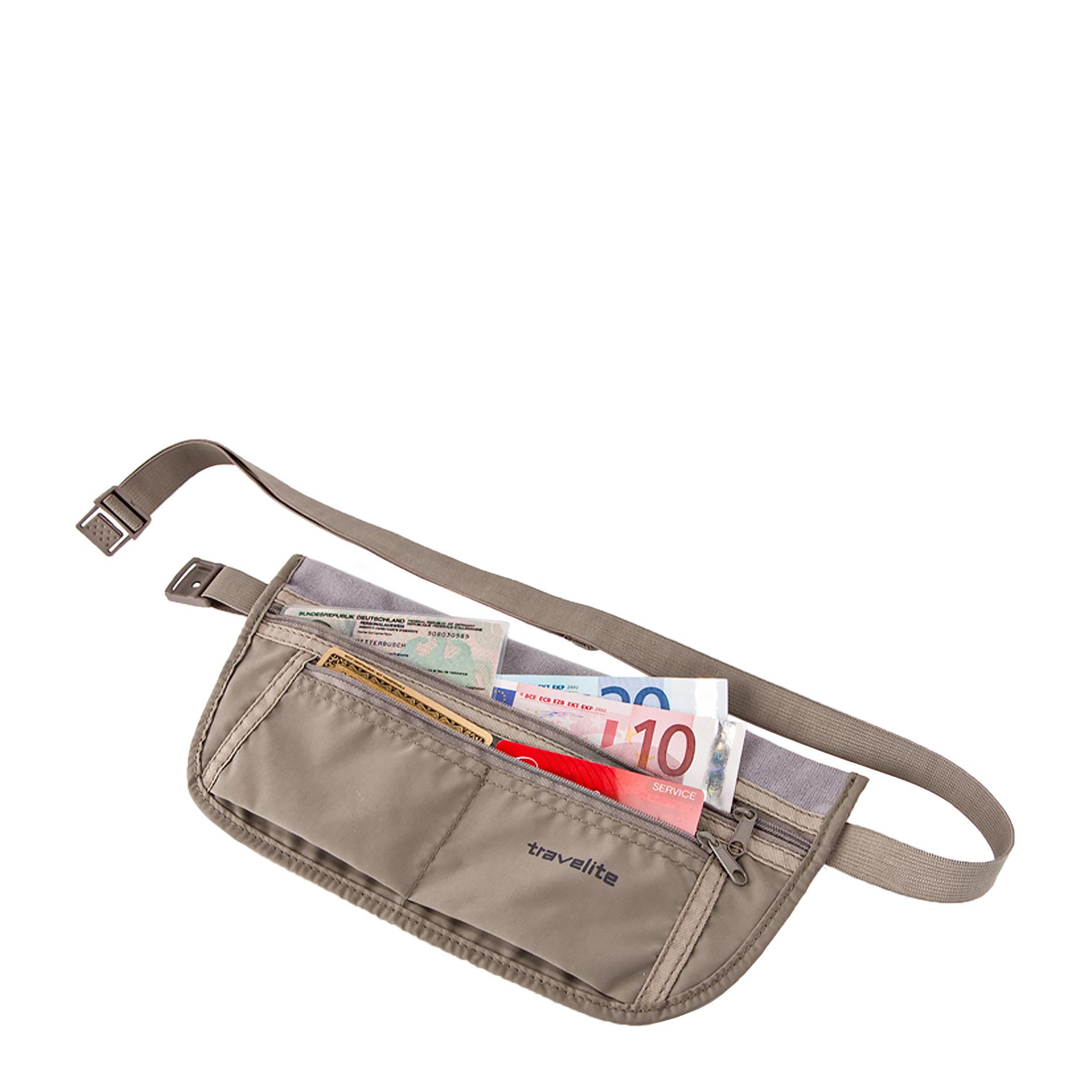 travelite. Accessoires Sicherheitsgürteltasche mit RFID braun