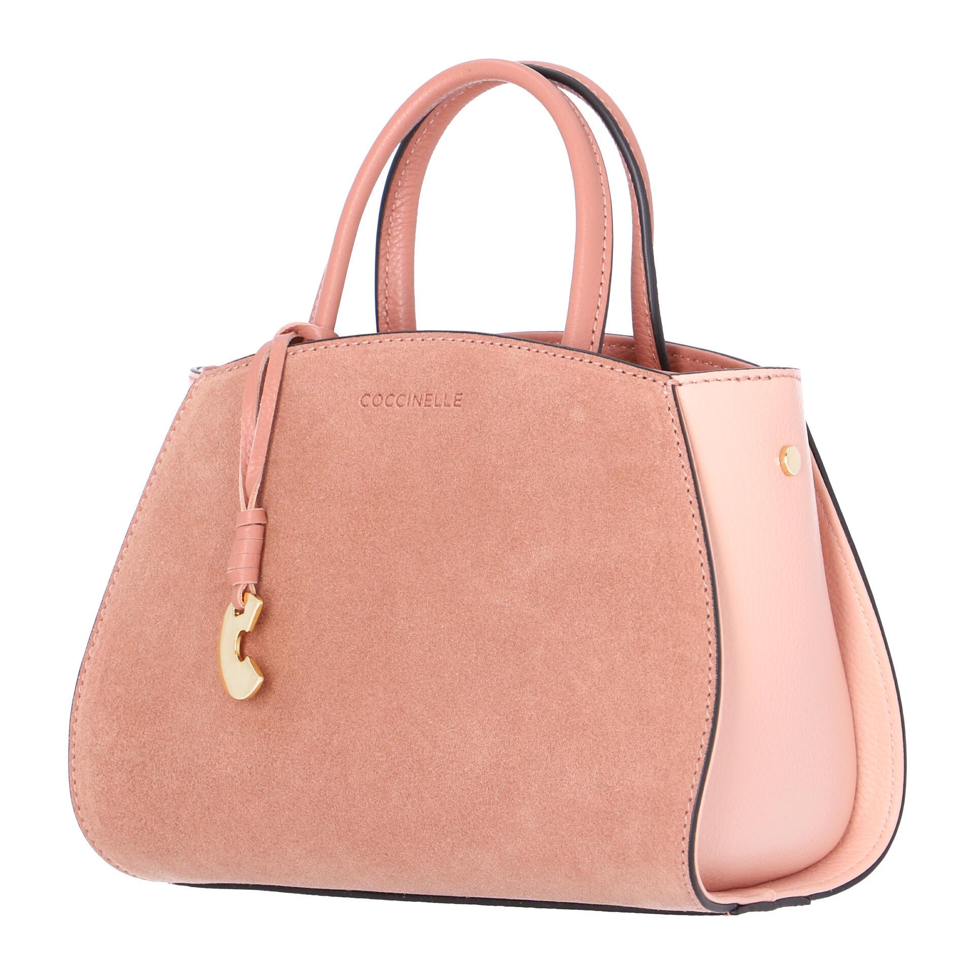 Concrete Bicolor Suede Mini Handtasche aus Wildleder  litchi/rose