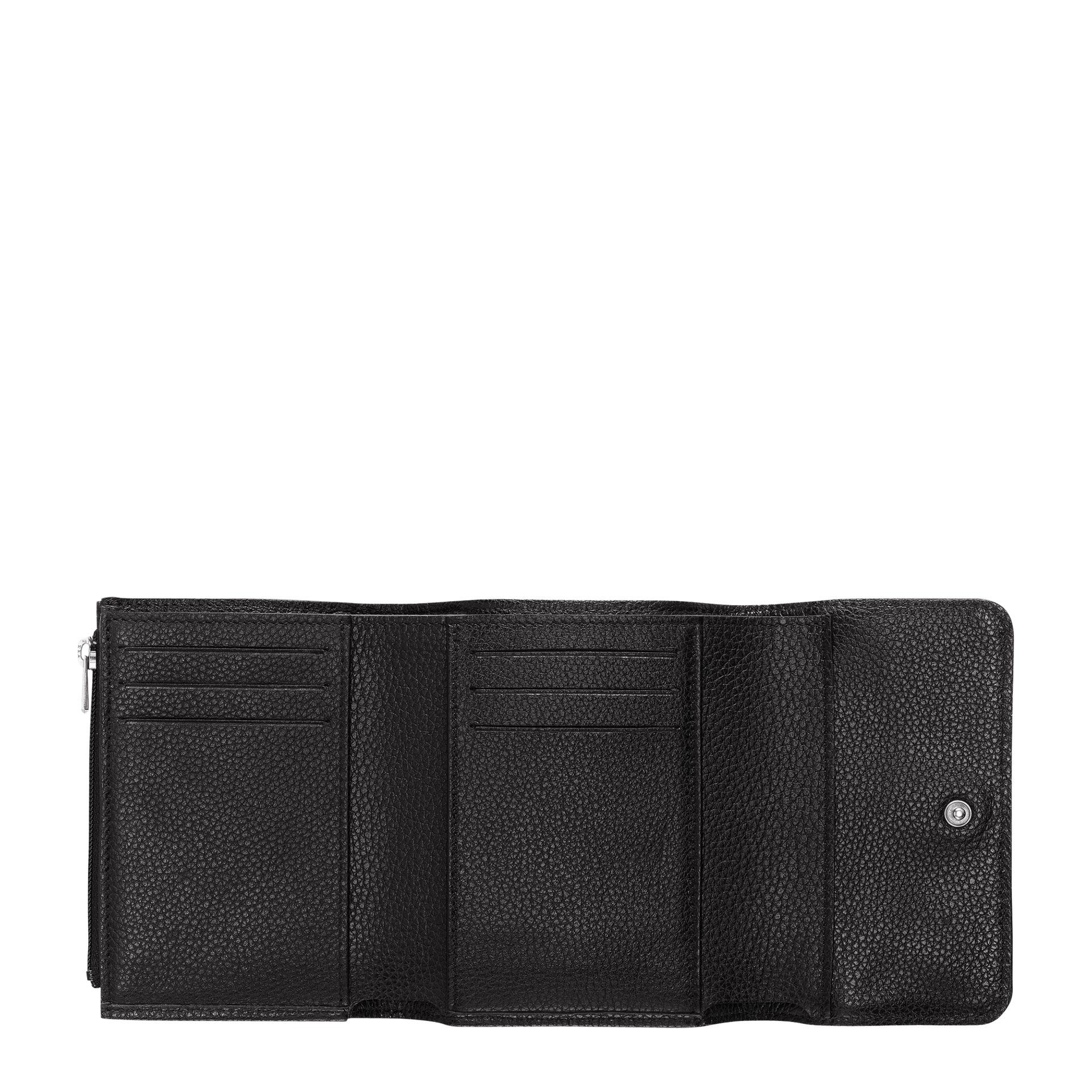 Longchamp Le Foulonné Brieftasche im Kompaktforamt black