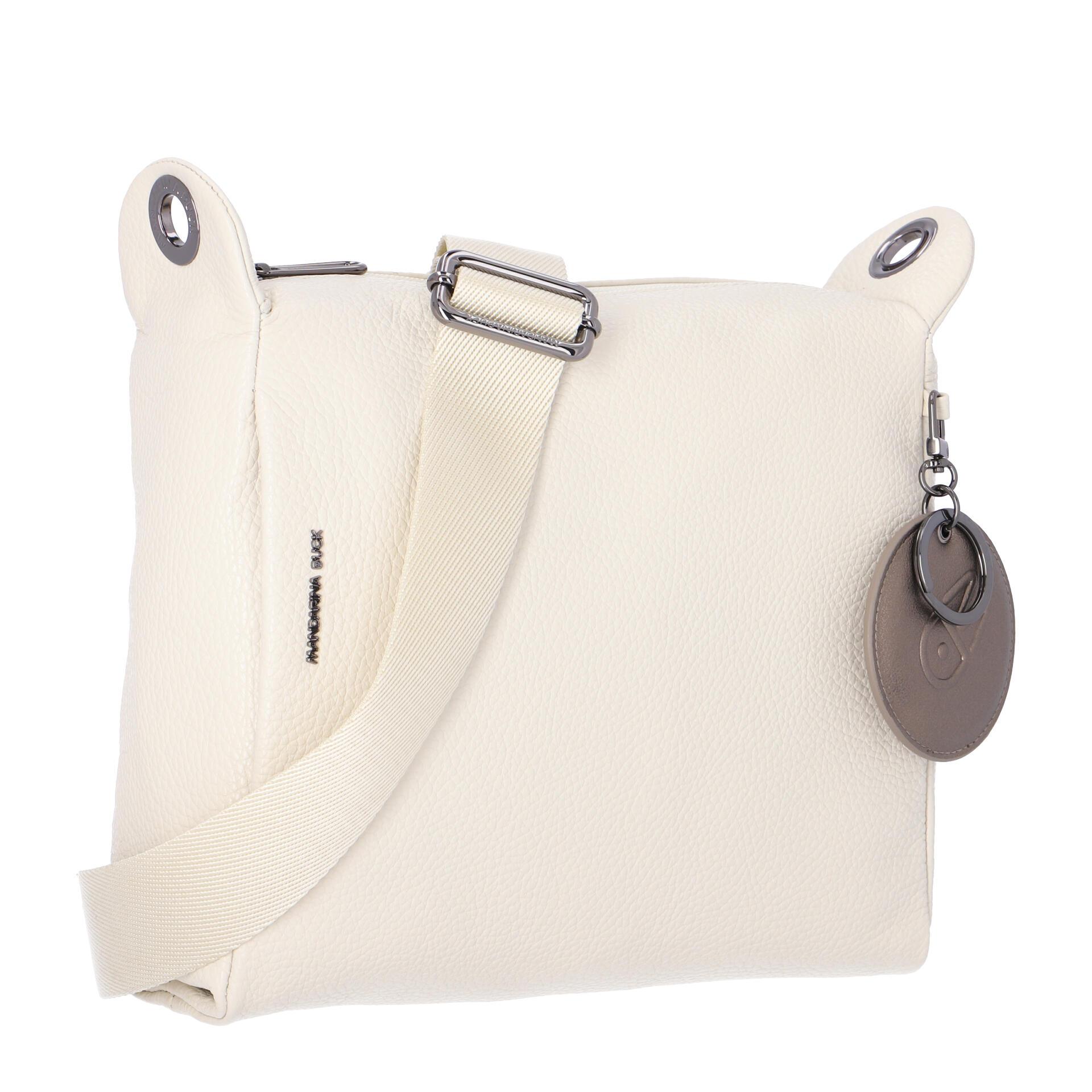Mandarina Duck Mellow Leather Umhängetasche off white