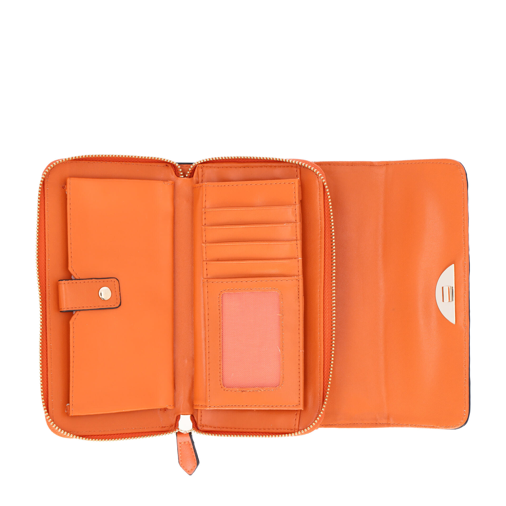 Valentino by Mario Valentino Falcor Wallet on a Chain arancio