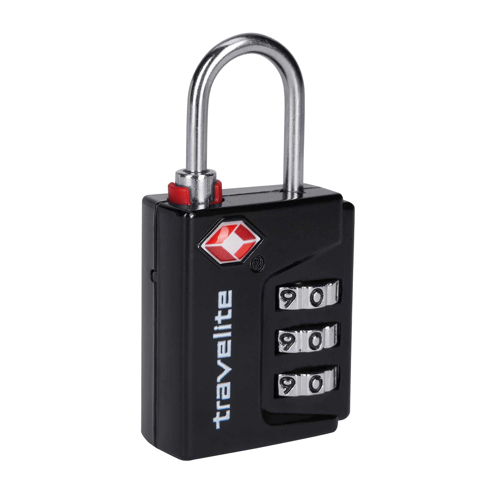 travelite. Accessoires TSA LOCK Kombinationsschloss schwarz