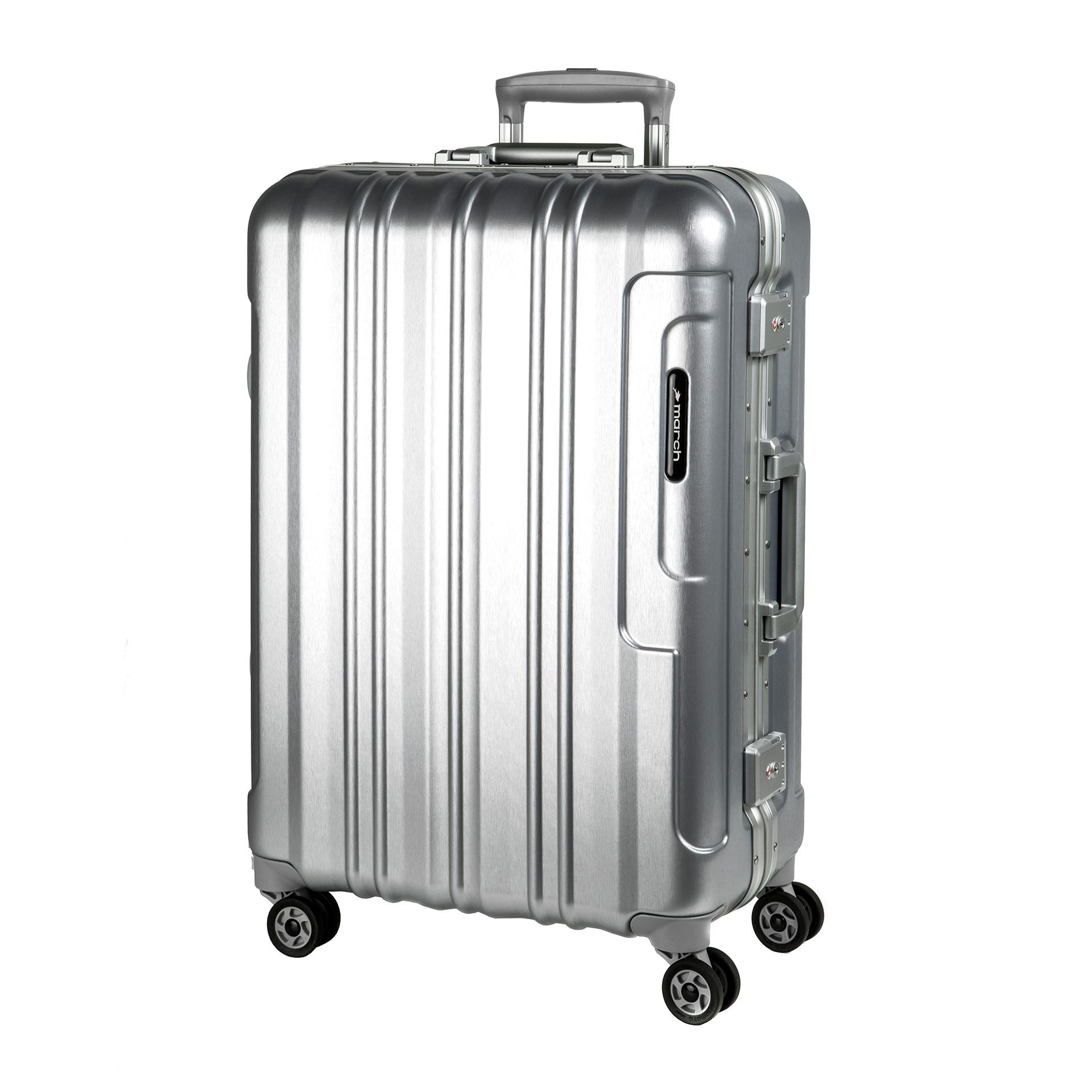 Cosmopolitan Platinum 4-Rad Trolley L silver alu brushed