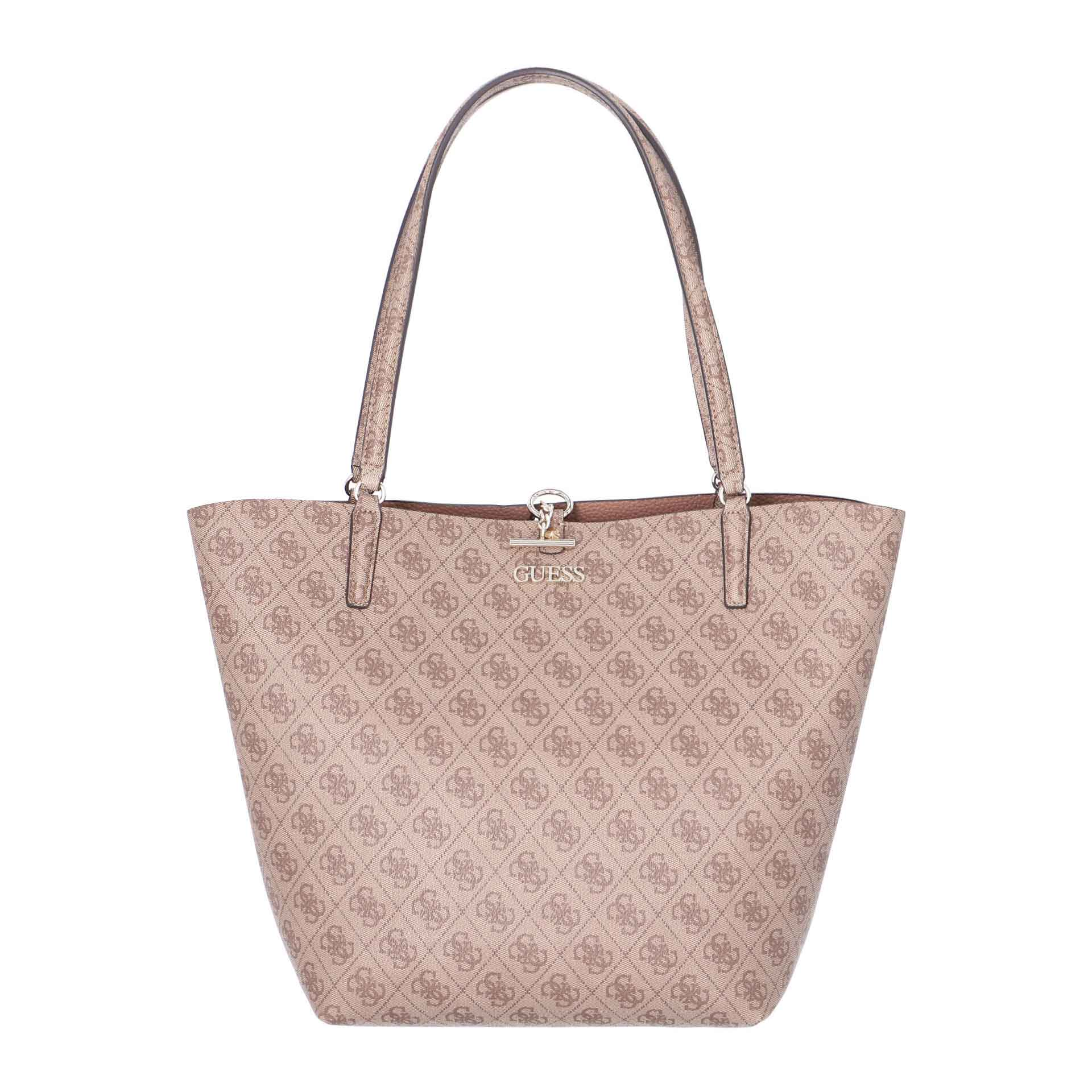 Guess Alby Wende Shopper mit Pochette latte taupe