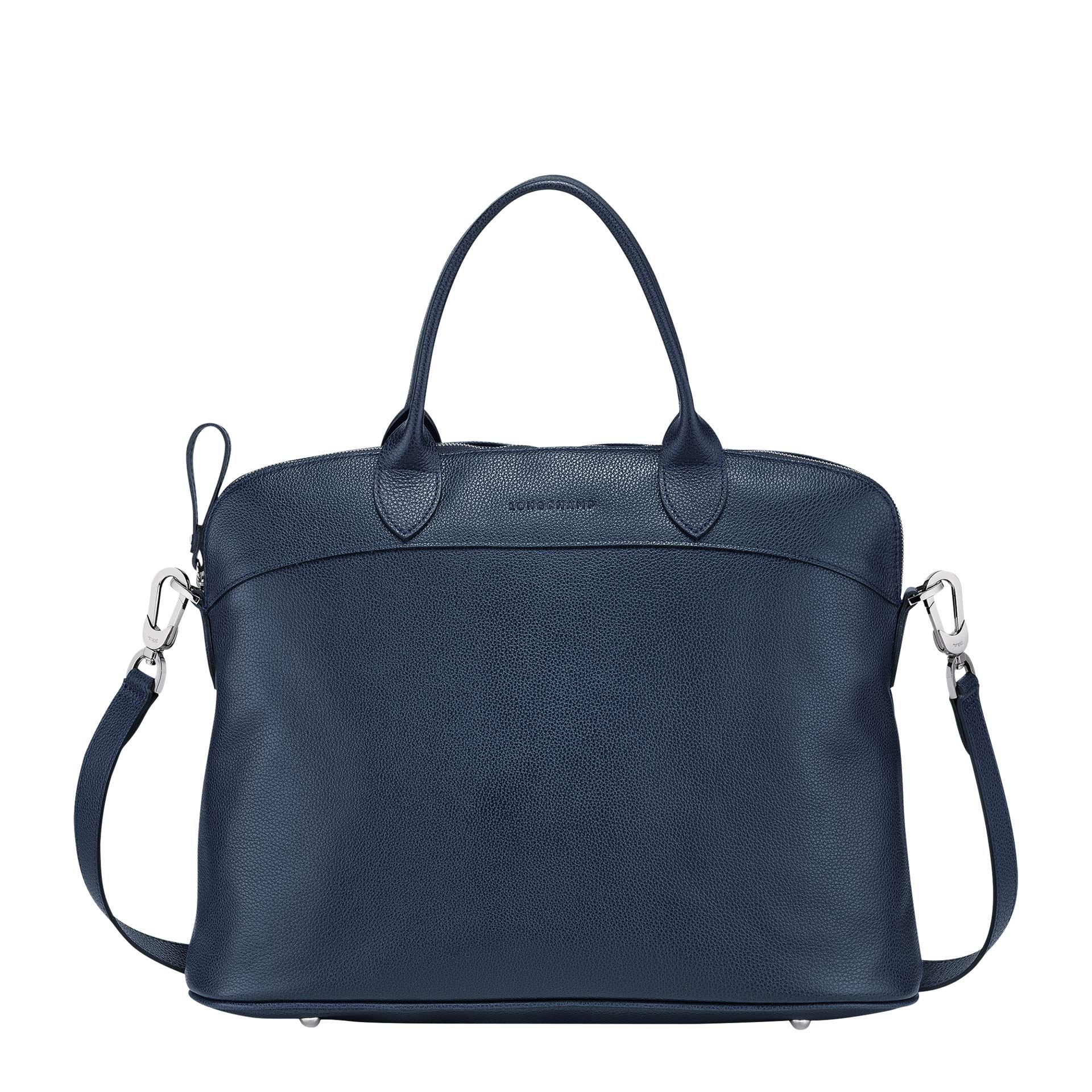 Longchamp Le Foulonné Handtasche M navy
