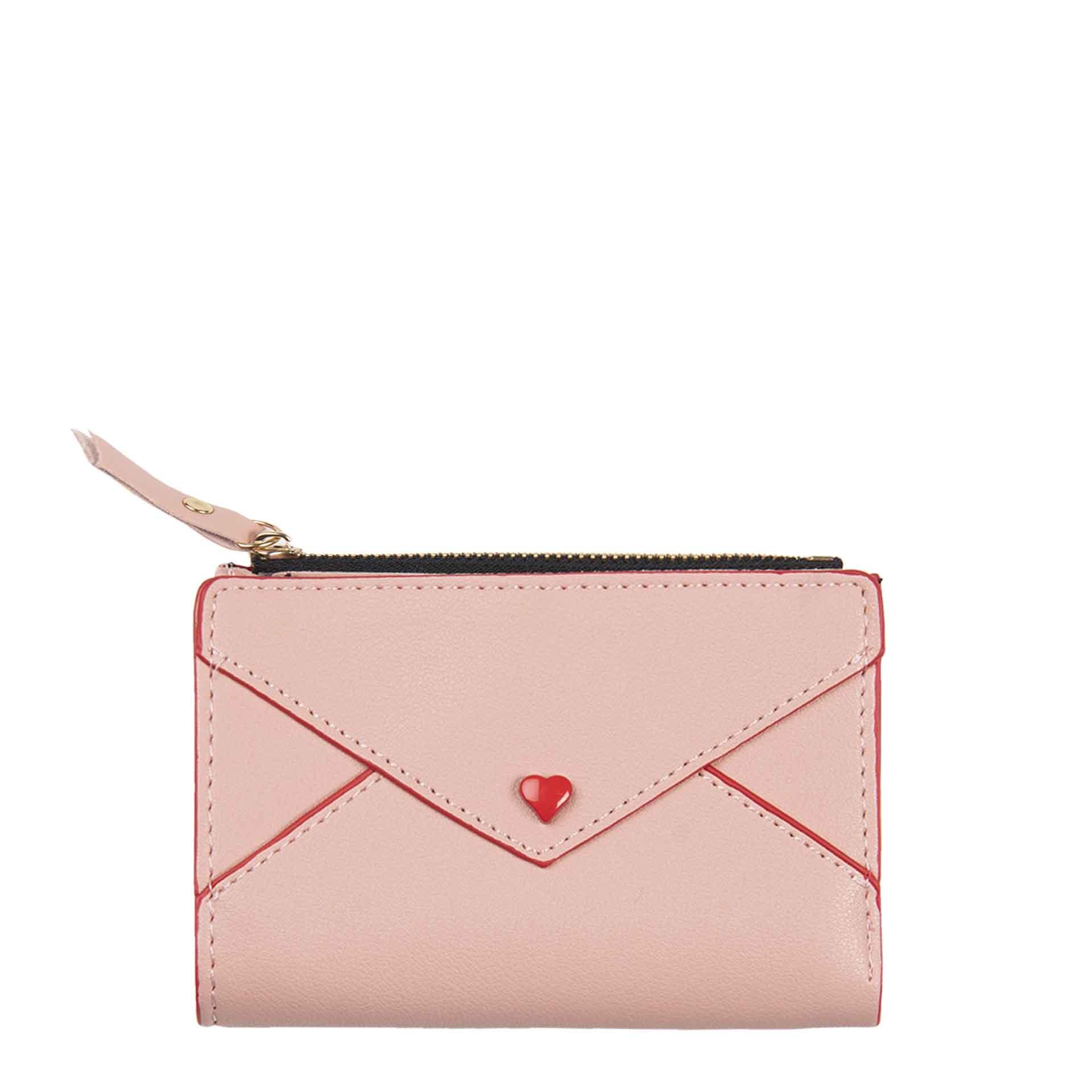LEOKA Clayre & Eef Geldbörse heart pink