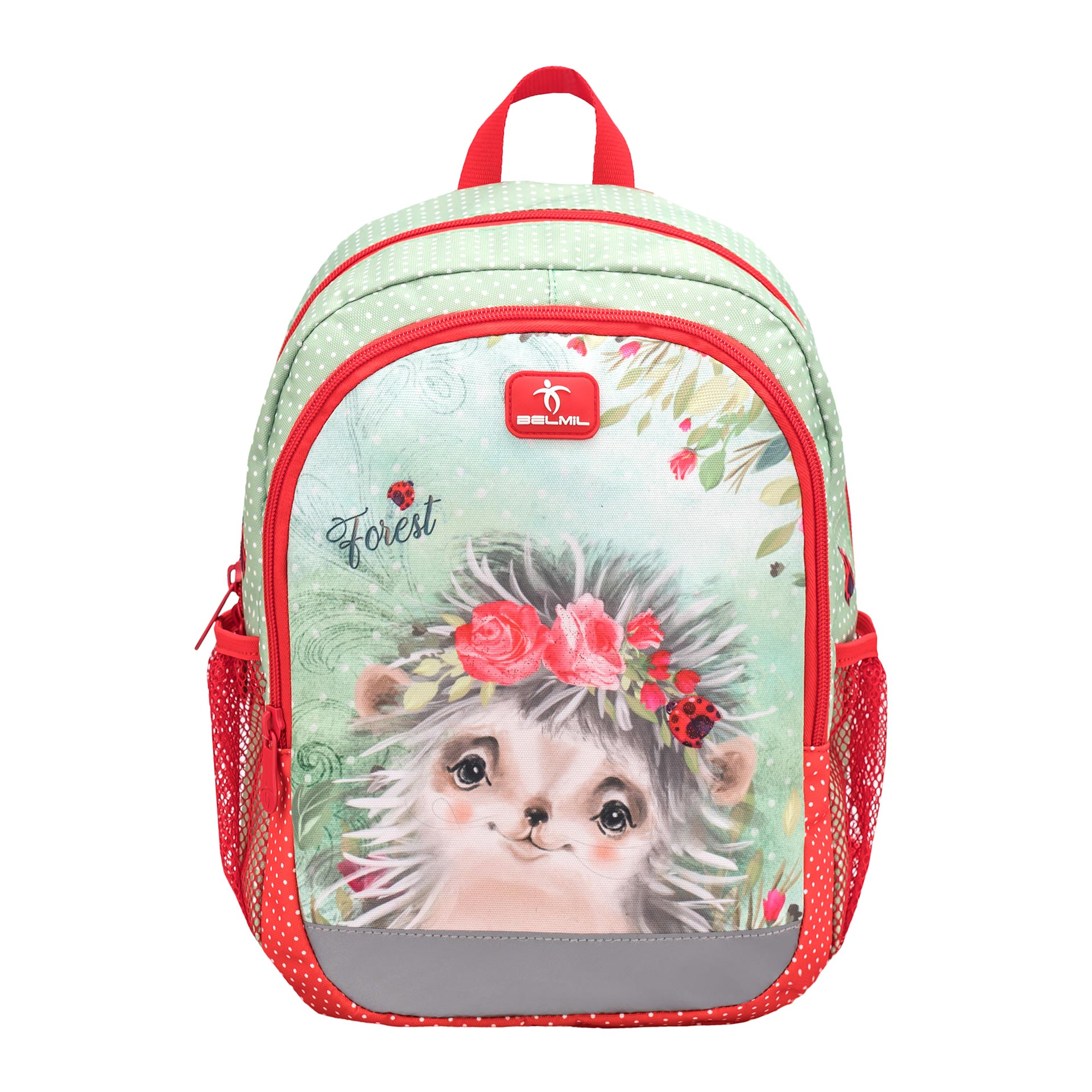 Belmil Kiddy Plus Kinderrucksack Animal Forest Hedgehog