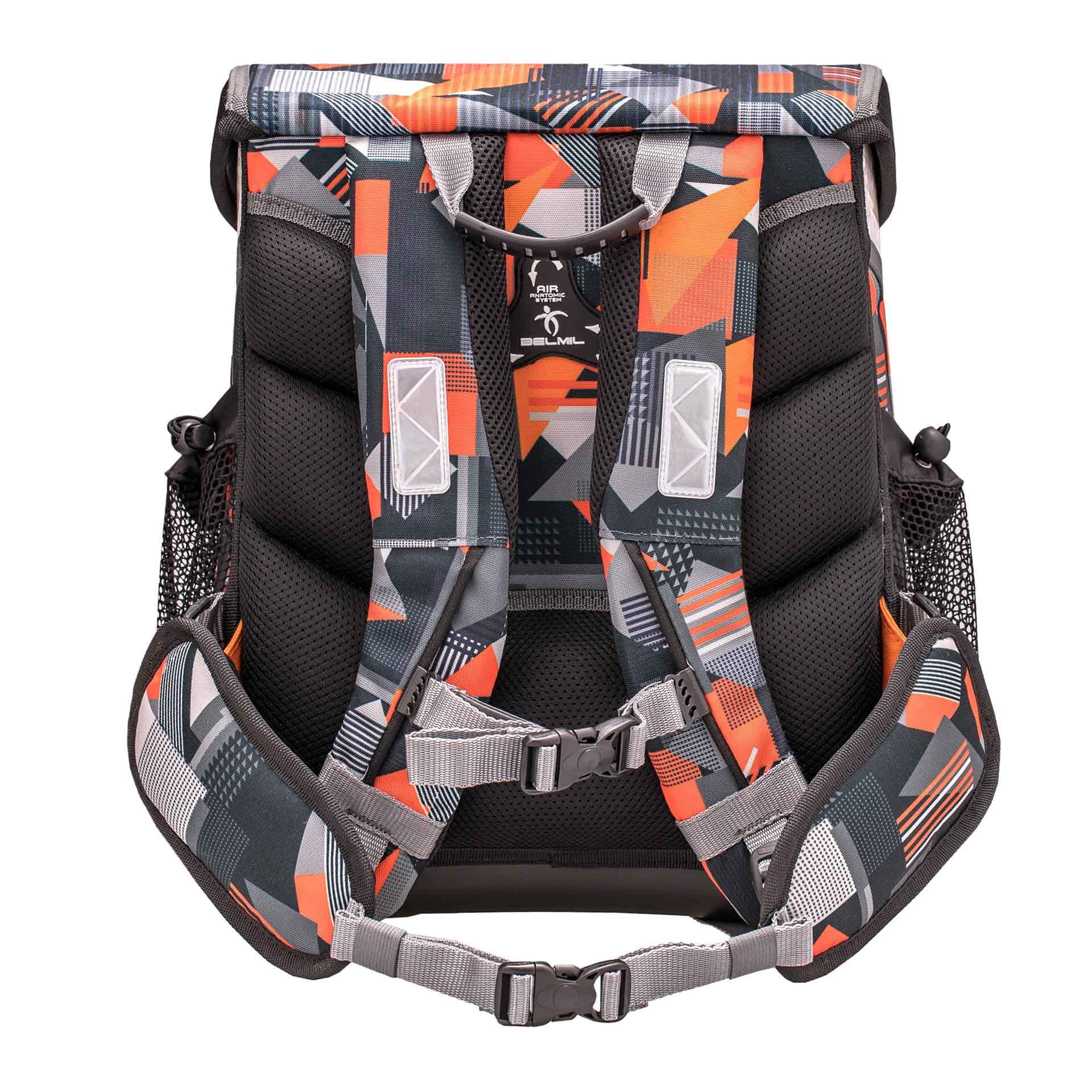 Belmil Cool Bag Schulranzen mit Patch-Set, 4-teilig Wild World