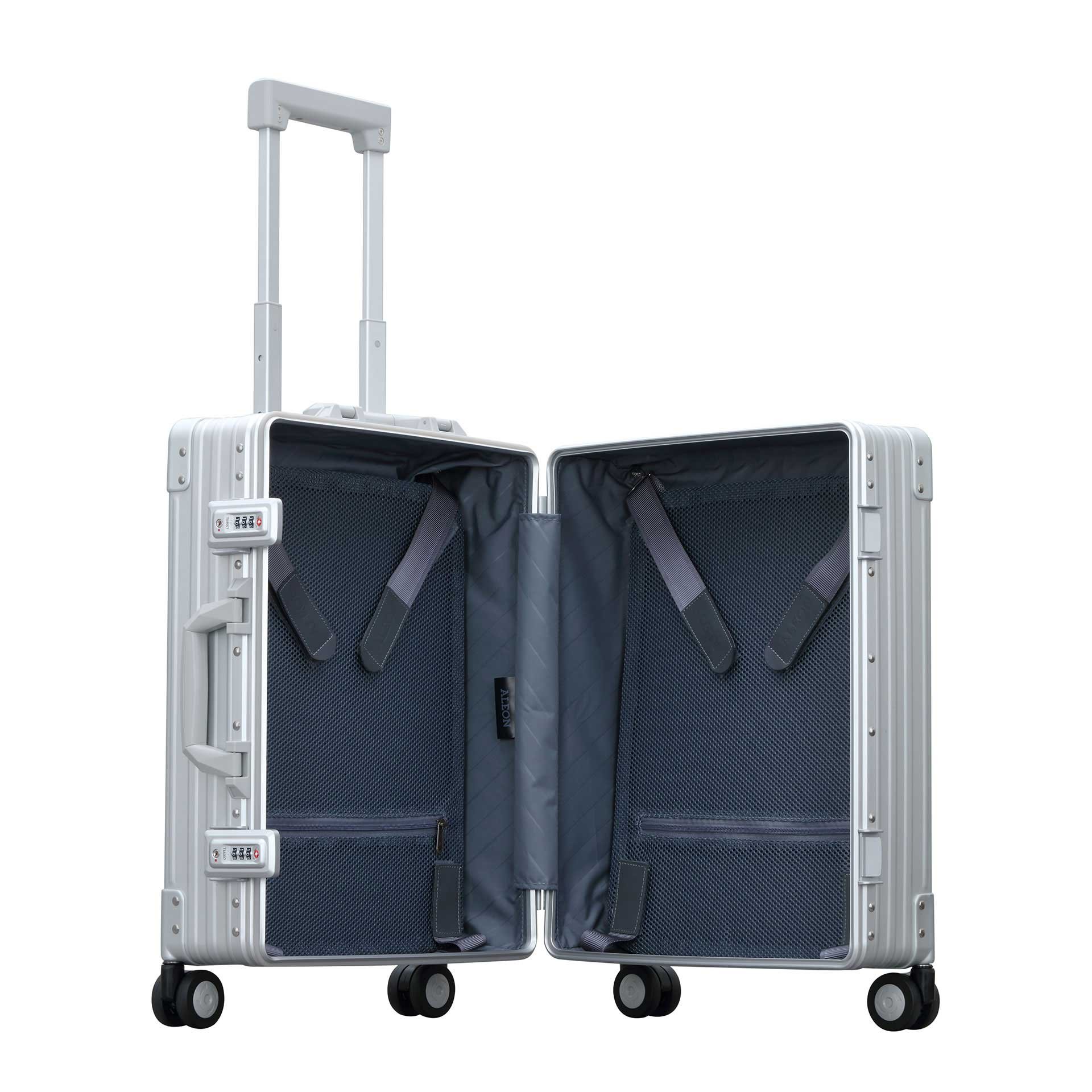 Aleon Domestic Carry-On 4-Rad Trolley platinum