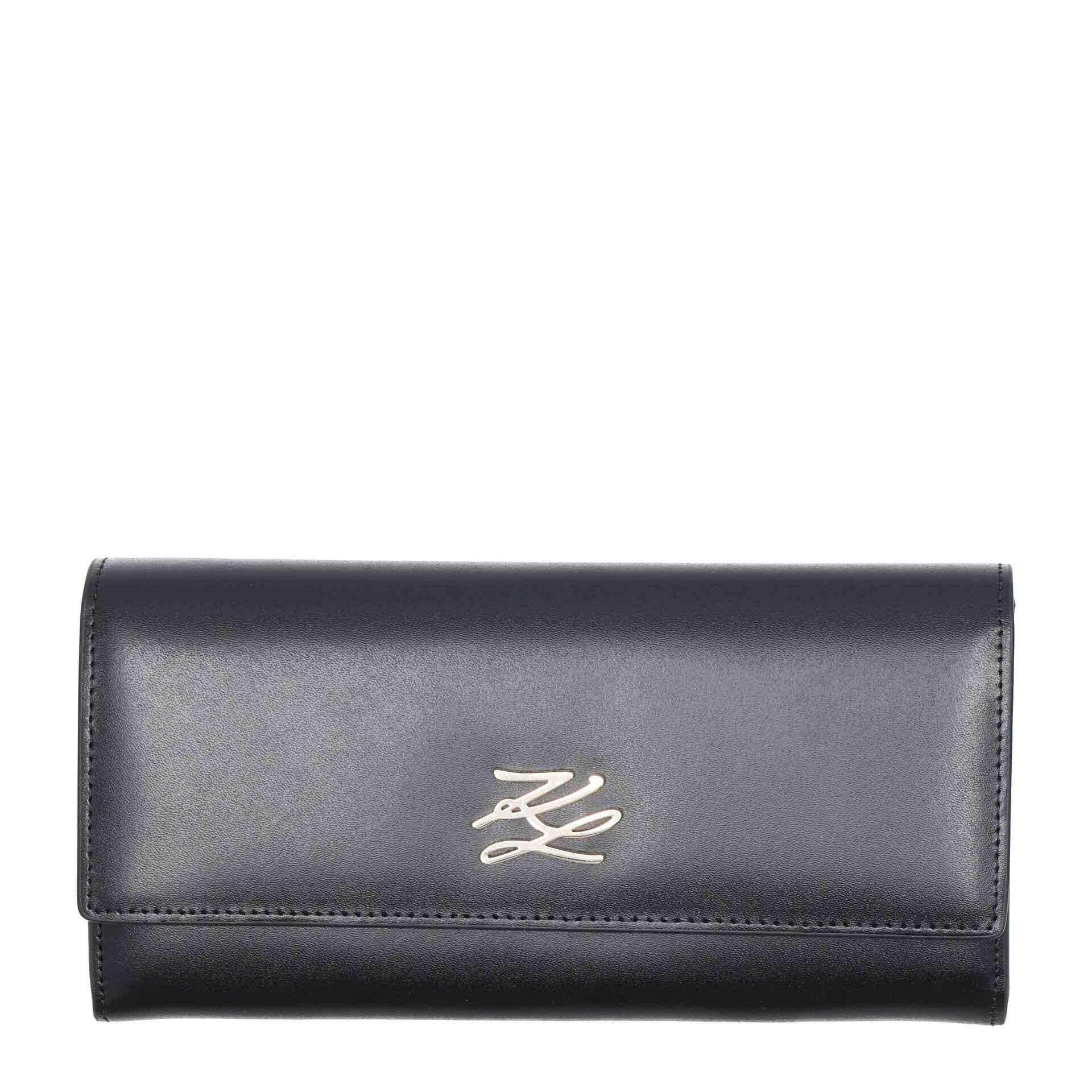 Karl Lagerfeld K/Autograph Damengeldbörse black gold