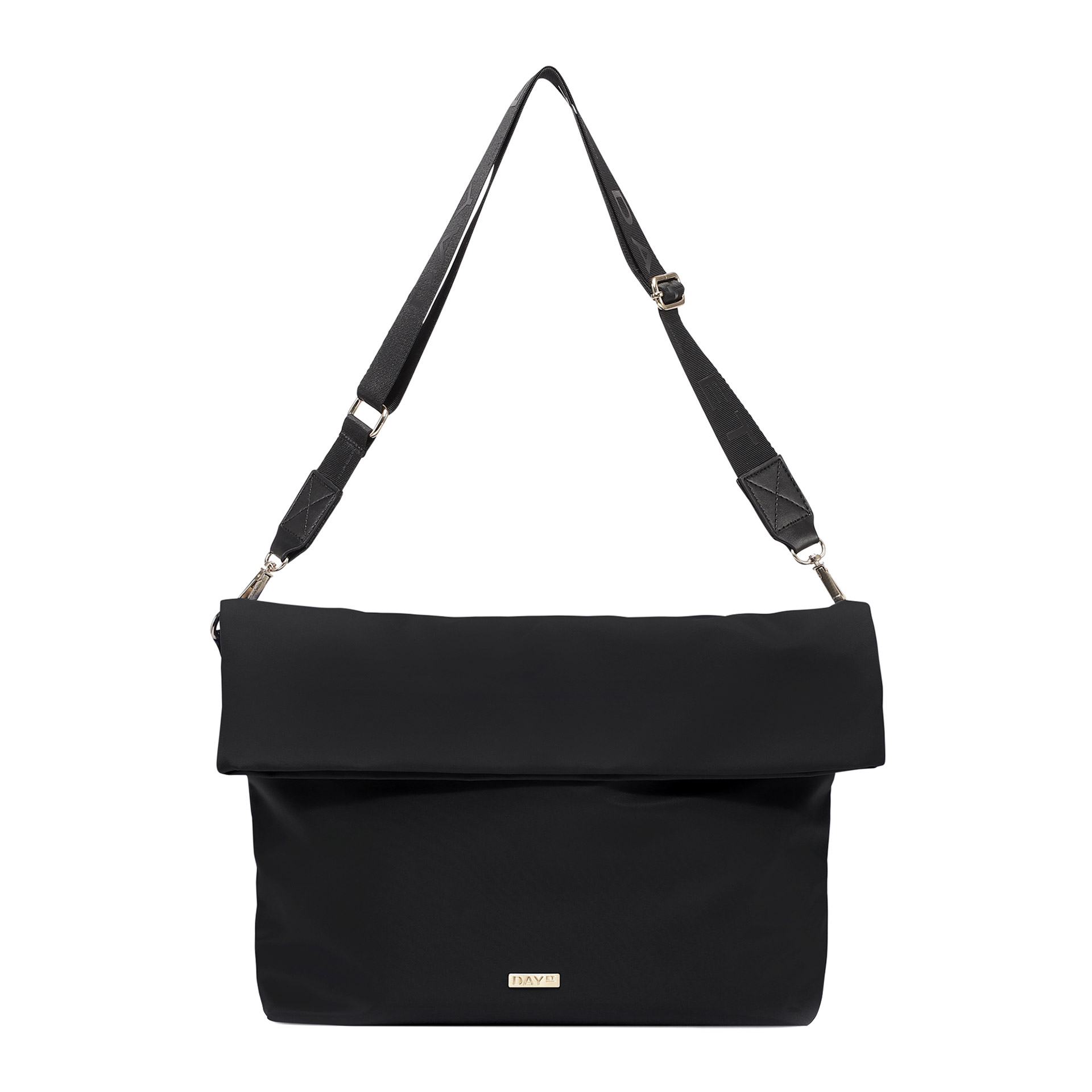 DAY ET Day RE-Logo Fold Over Schultertasche black