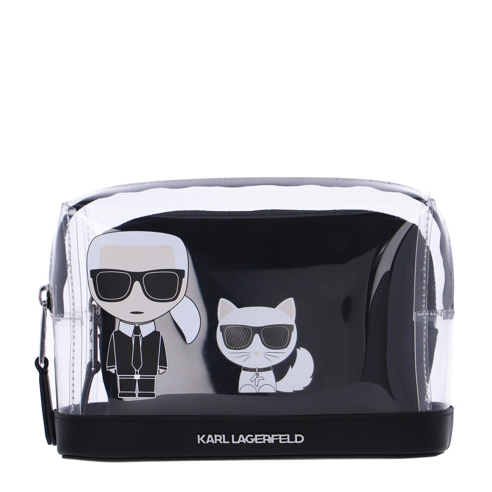 Karl Lagerfeld K/Ikonik Kosmetiktasche transparent