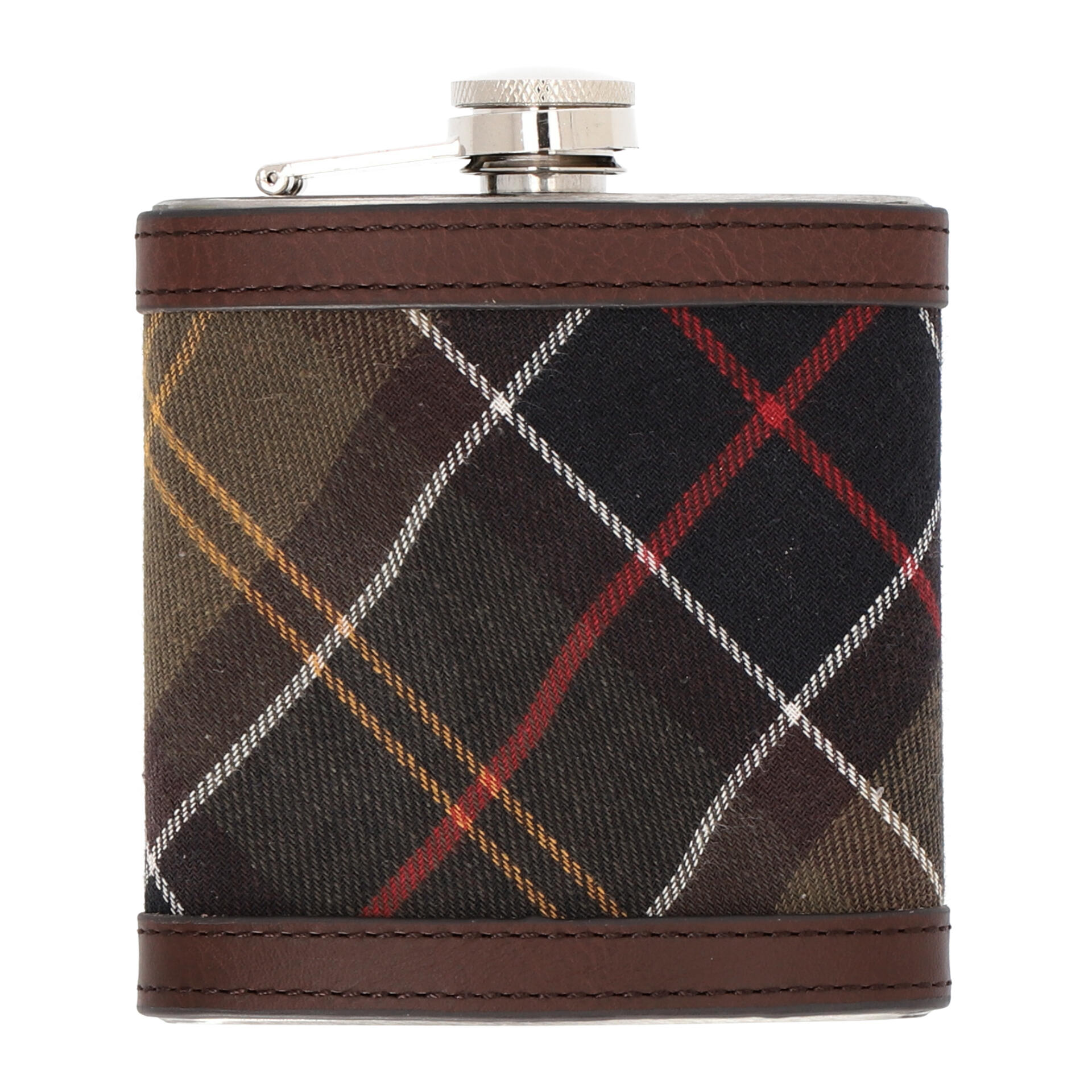 Barbour Hip Flask Flachmann  classic dark brown