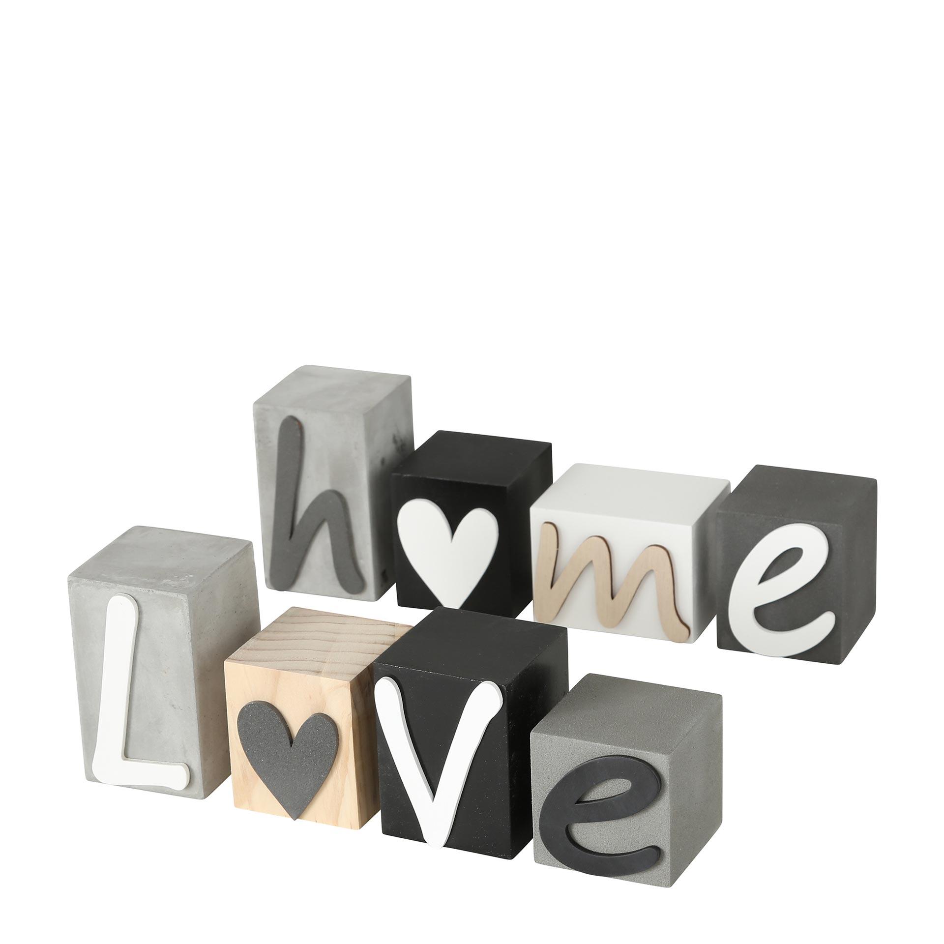 Boltze Home/Love Schriftzug 4 tlg. 1-teilig, farblich sortiert