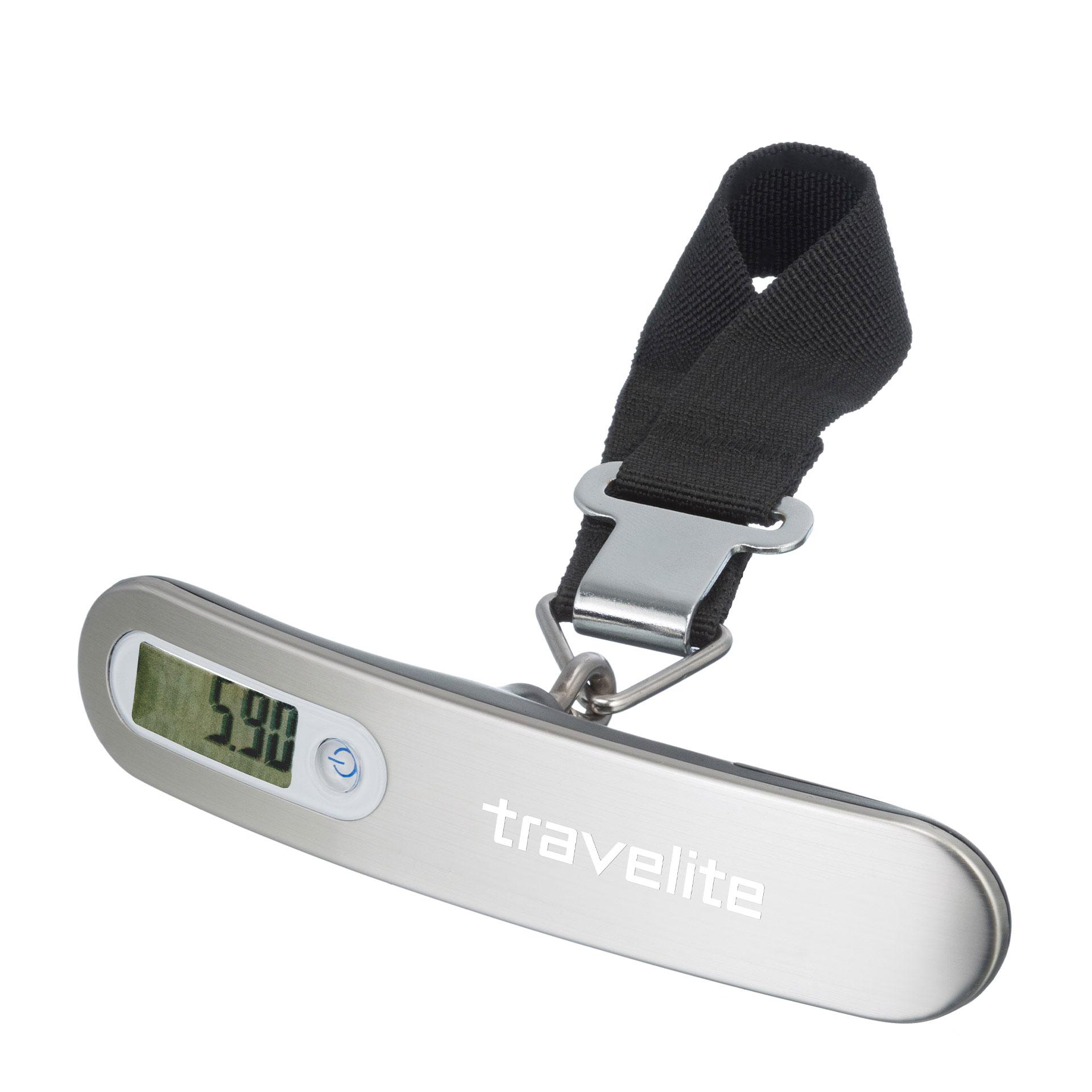 travelite. Accessoires Digitale Kofferwaage Aluminium silber